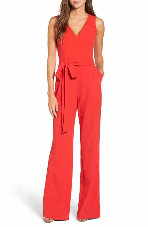 71cd137ed624 Vince Camuto Tie Front Wide Leg Jumpsuit (Regular   Petite)