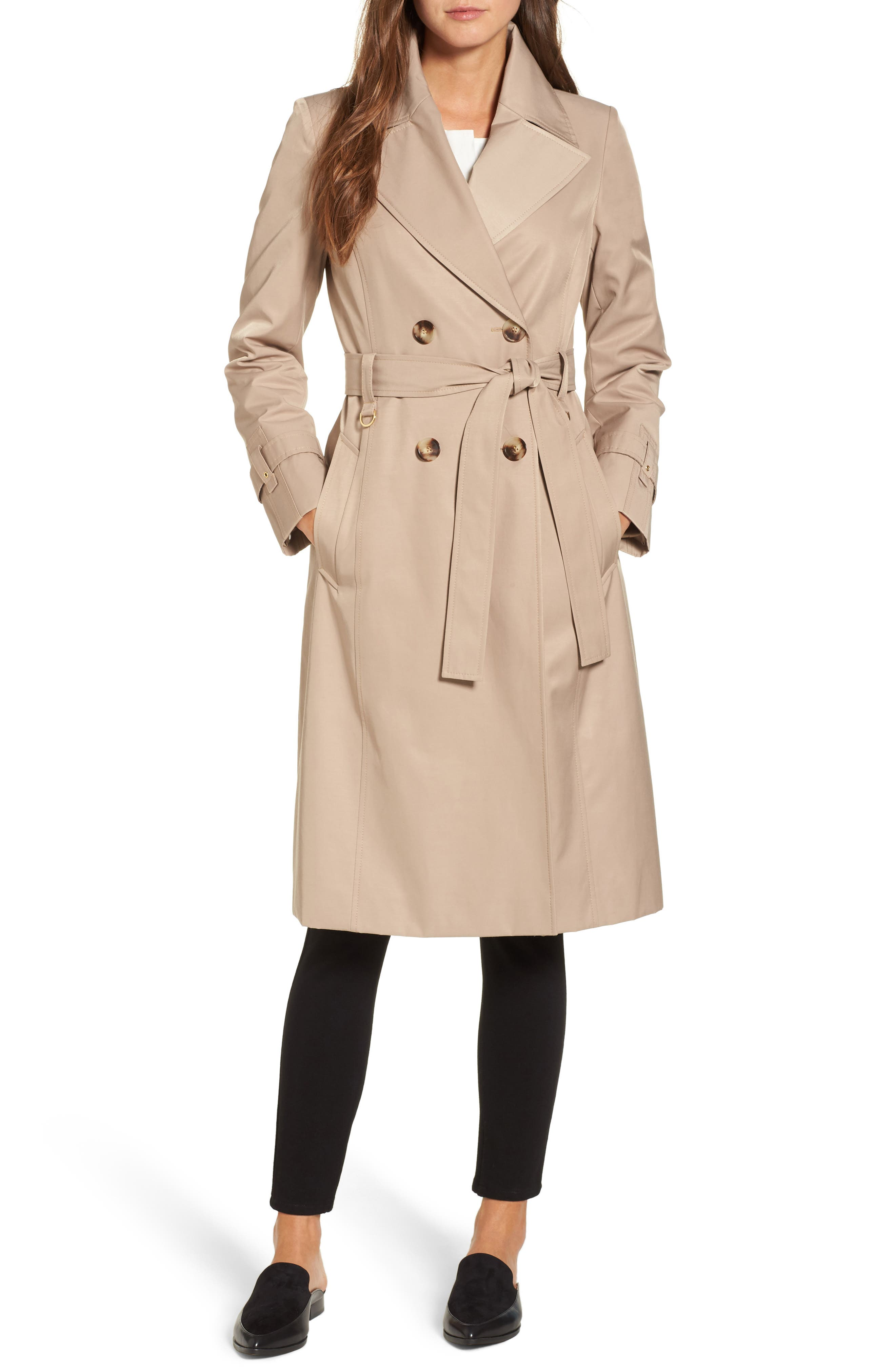 Alternate Image 1 Selected - Via Spiga Double Breasted Trench Coat