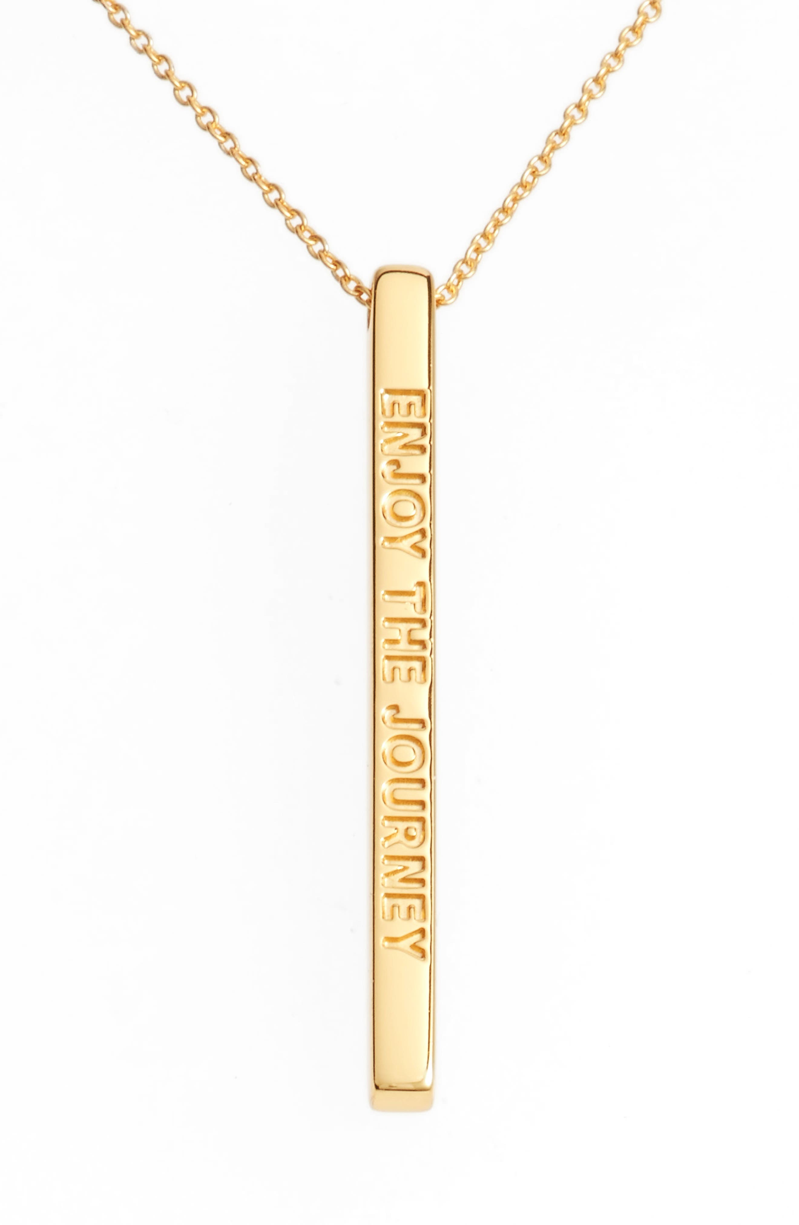 Enjoy the Journey Pendant Necklace,                         Main,                         color, Gold