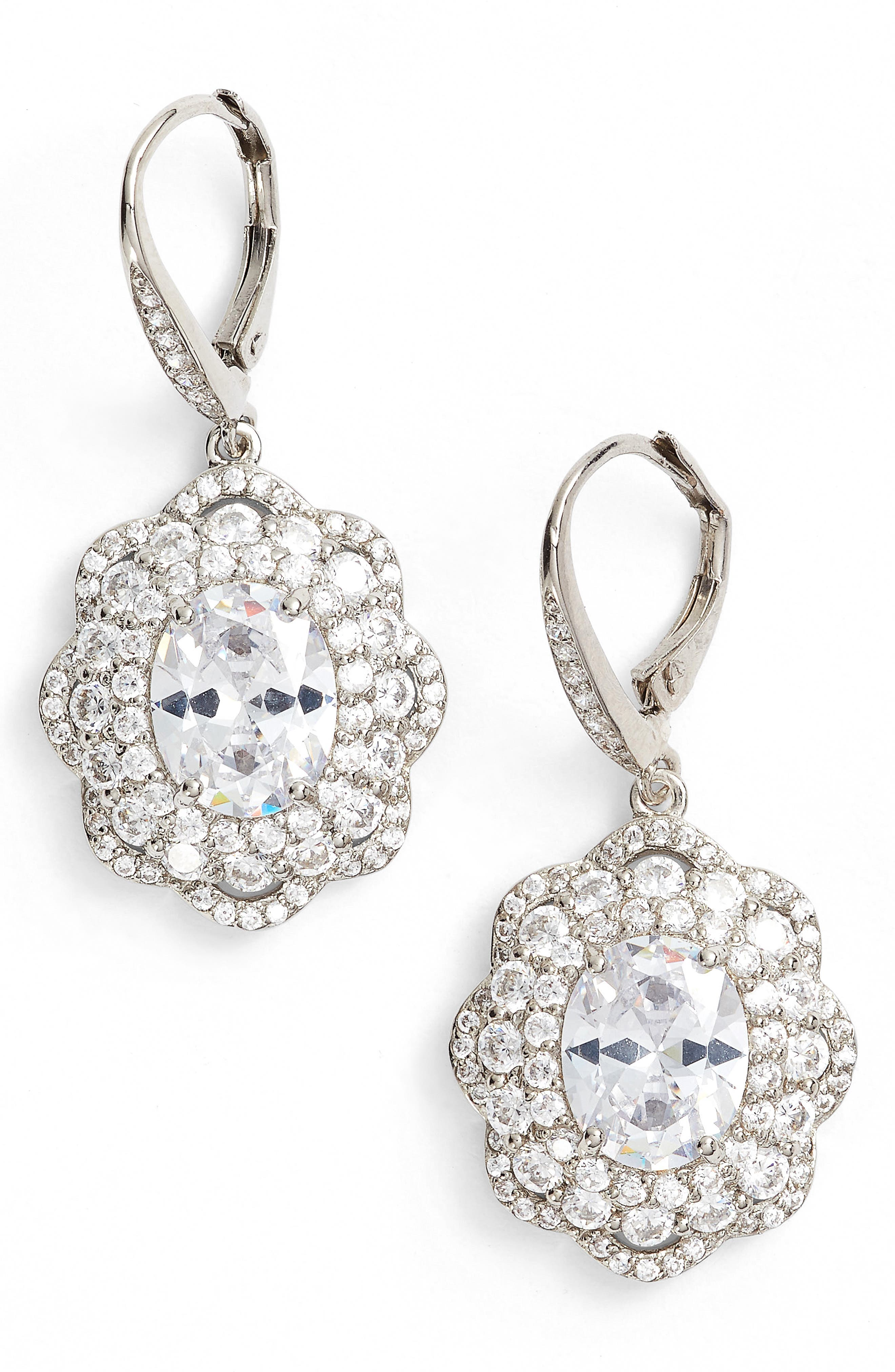 Alternate Image 1 Selected - Nina Vintage Drop Crystal Earrings