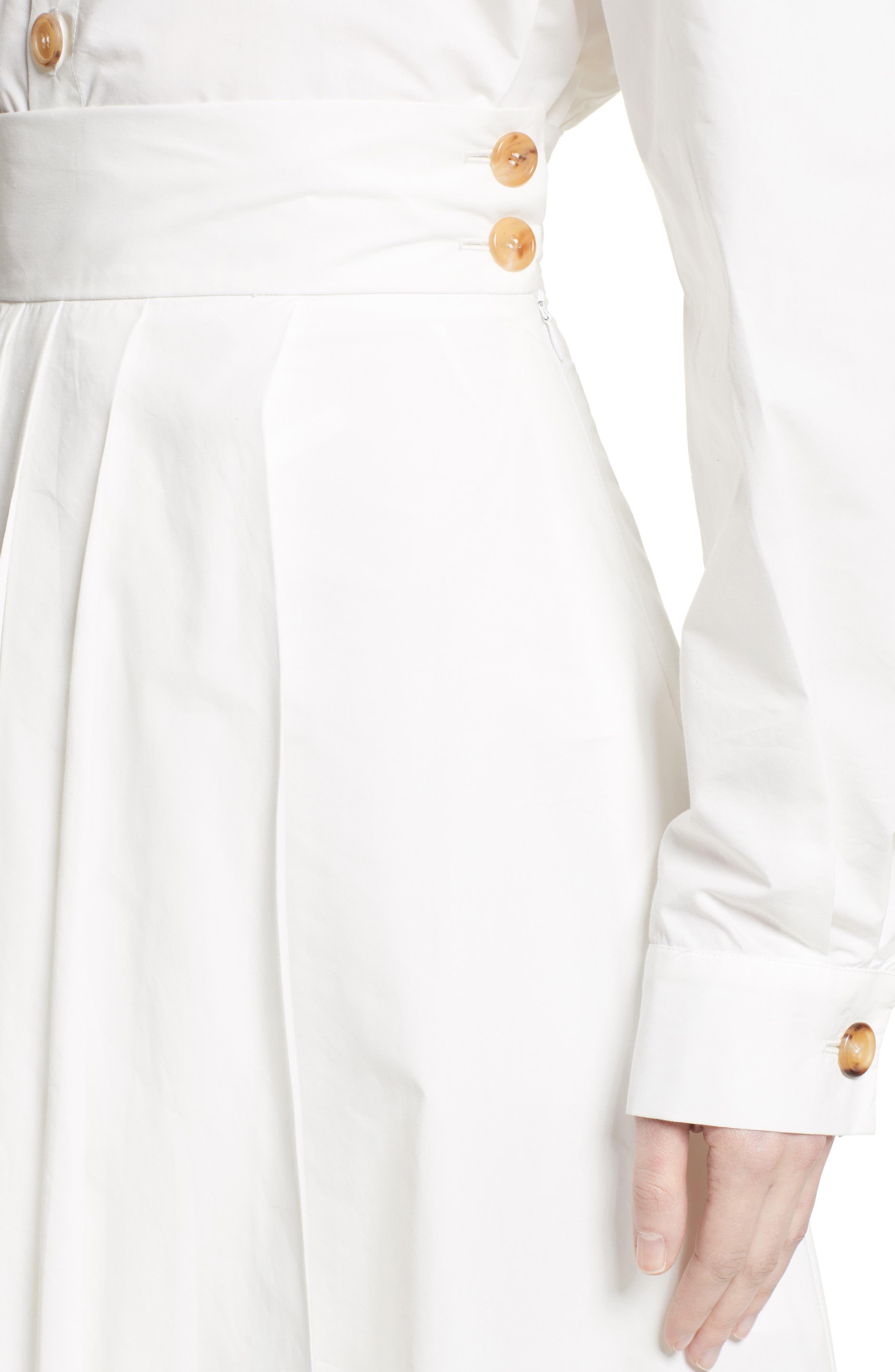 Pleated Maxi Skirt,                             Alternate thumbnail 6, color,                             White