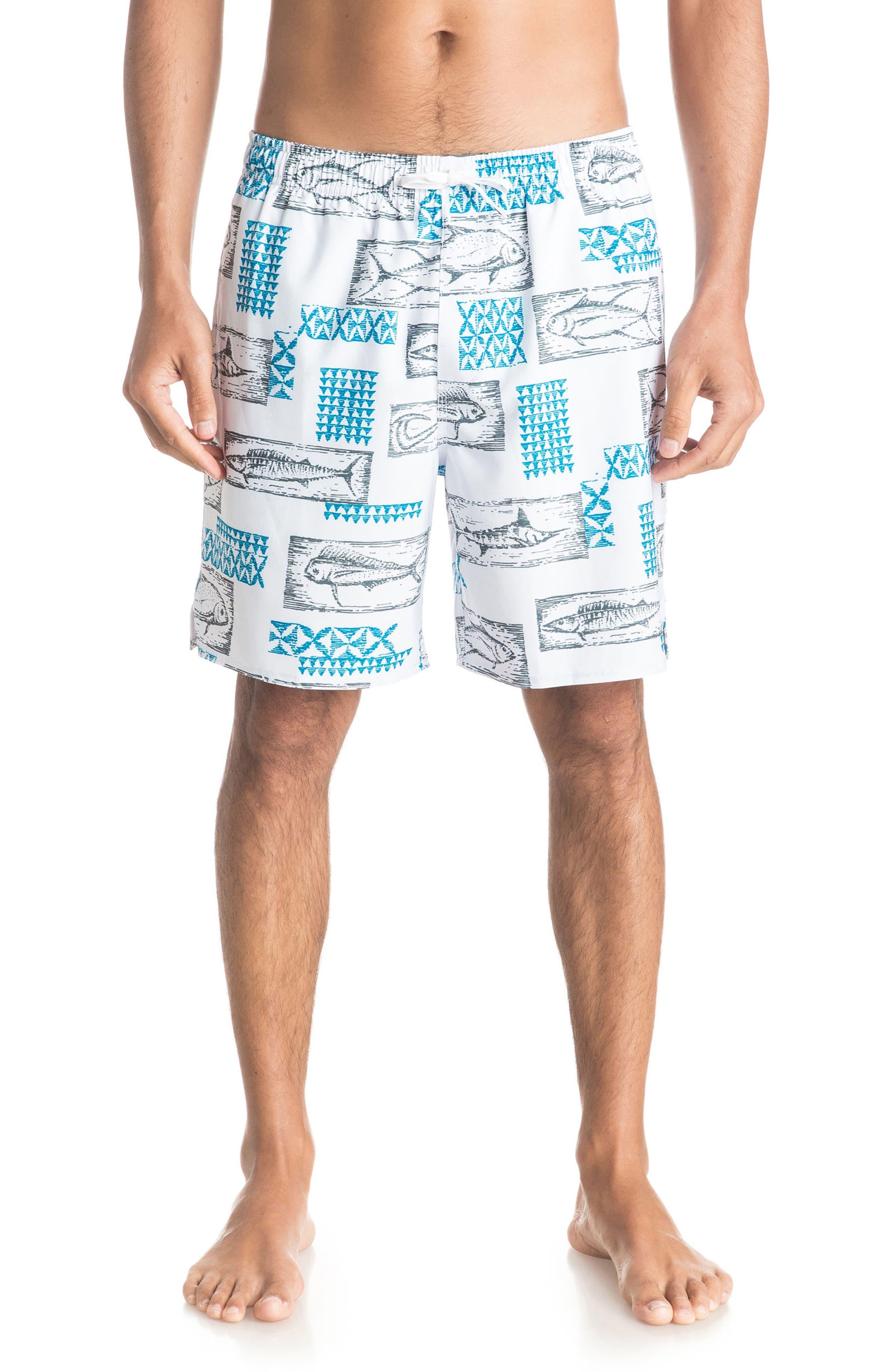 Hopuaina Swim Trunks,                         Main,                         color, White