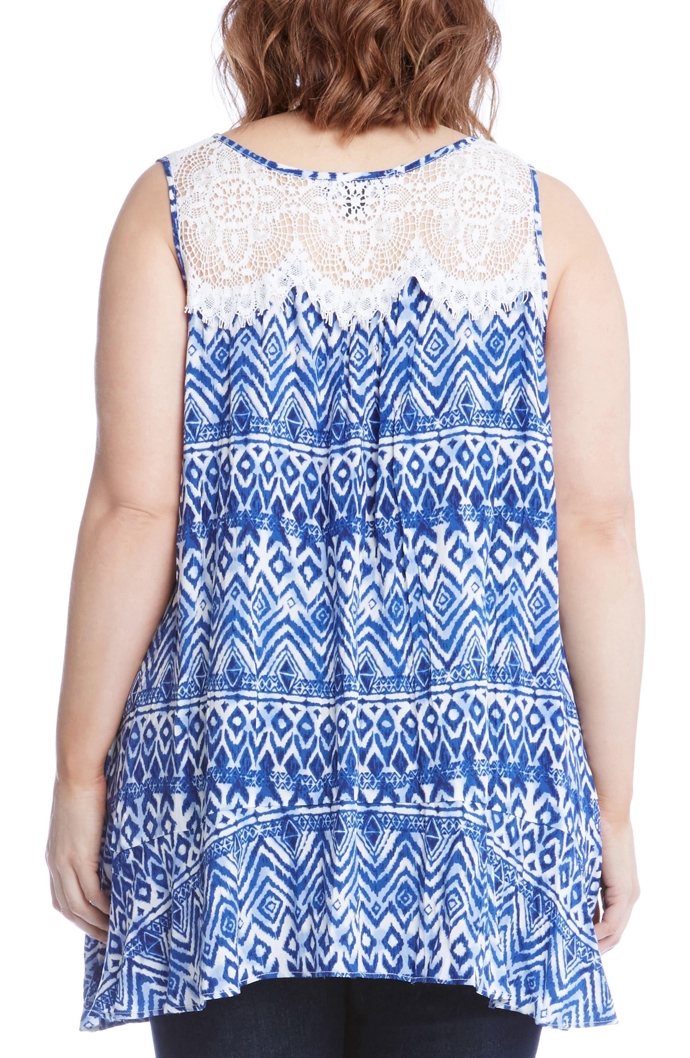 Alternate Image 2  - Karen Kane Lace Yoke Top (Plus Size)