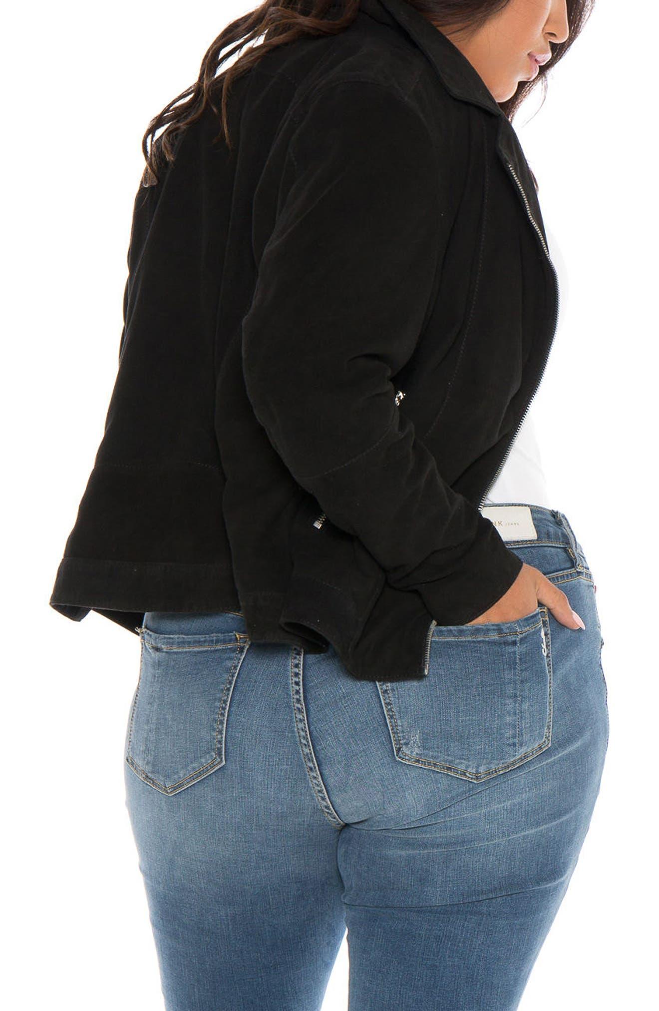 Alternate Image 2  - SLINK Jeans Canyon Suede Jacket (Plus Size)