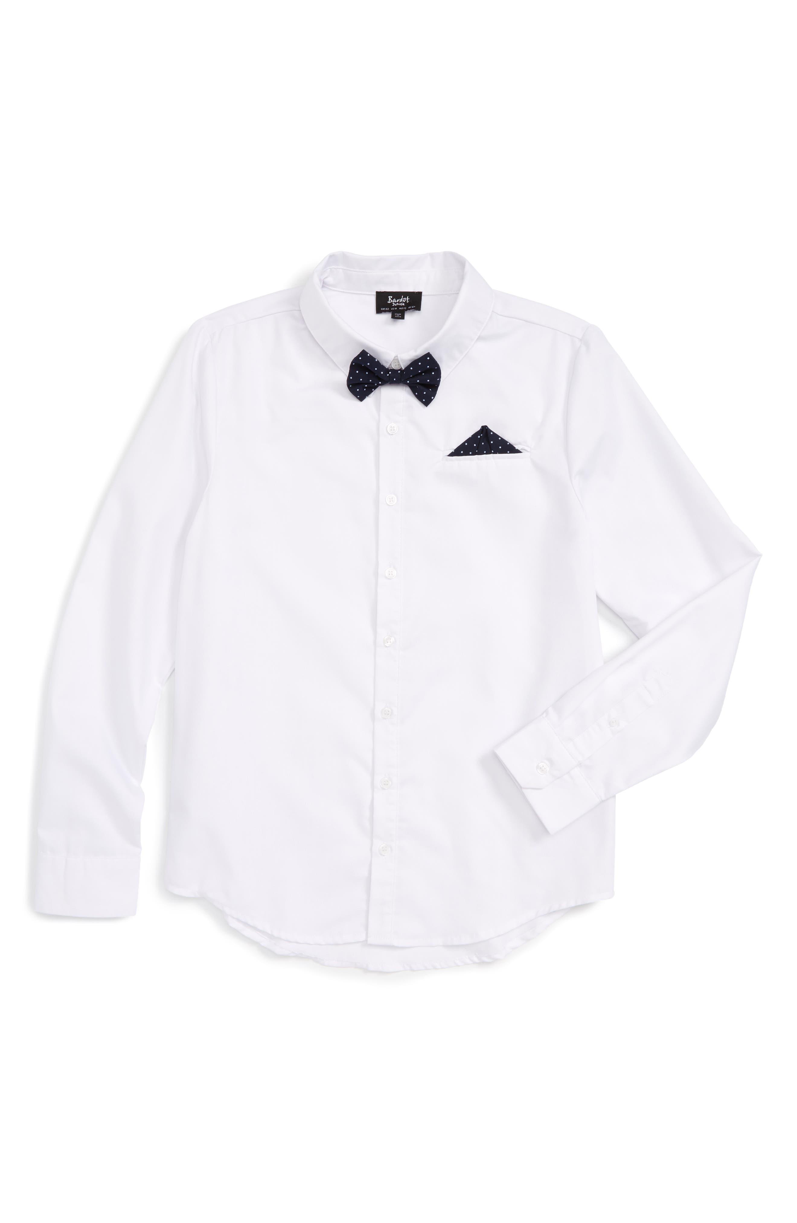 Main Image - Bardot Junior Dapper Shirt (Toddler Boys, Little Boys & Big Boys)
