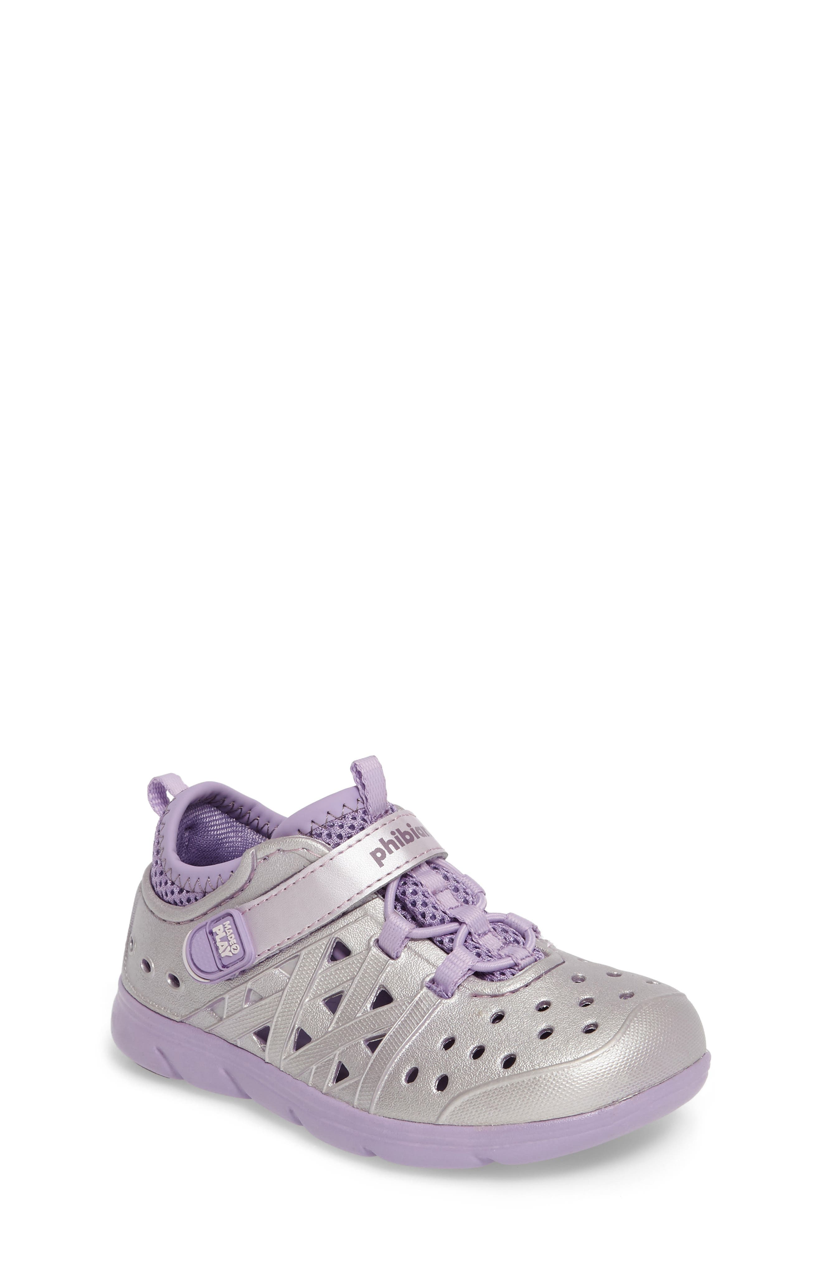 Made2Play<sup>®</sup> Phibian Sneaker,                             Main thumbnail 1, color,                             Purple Metallic