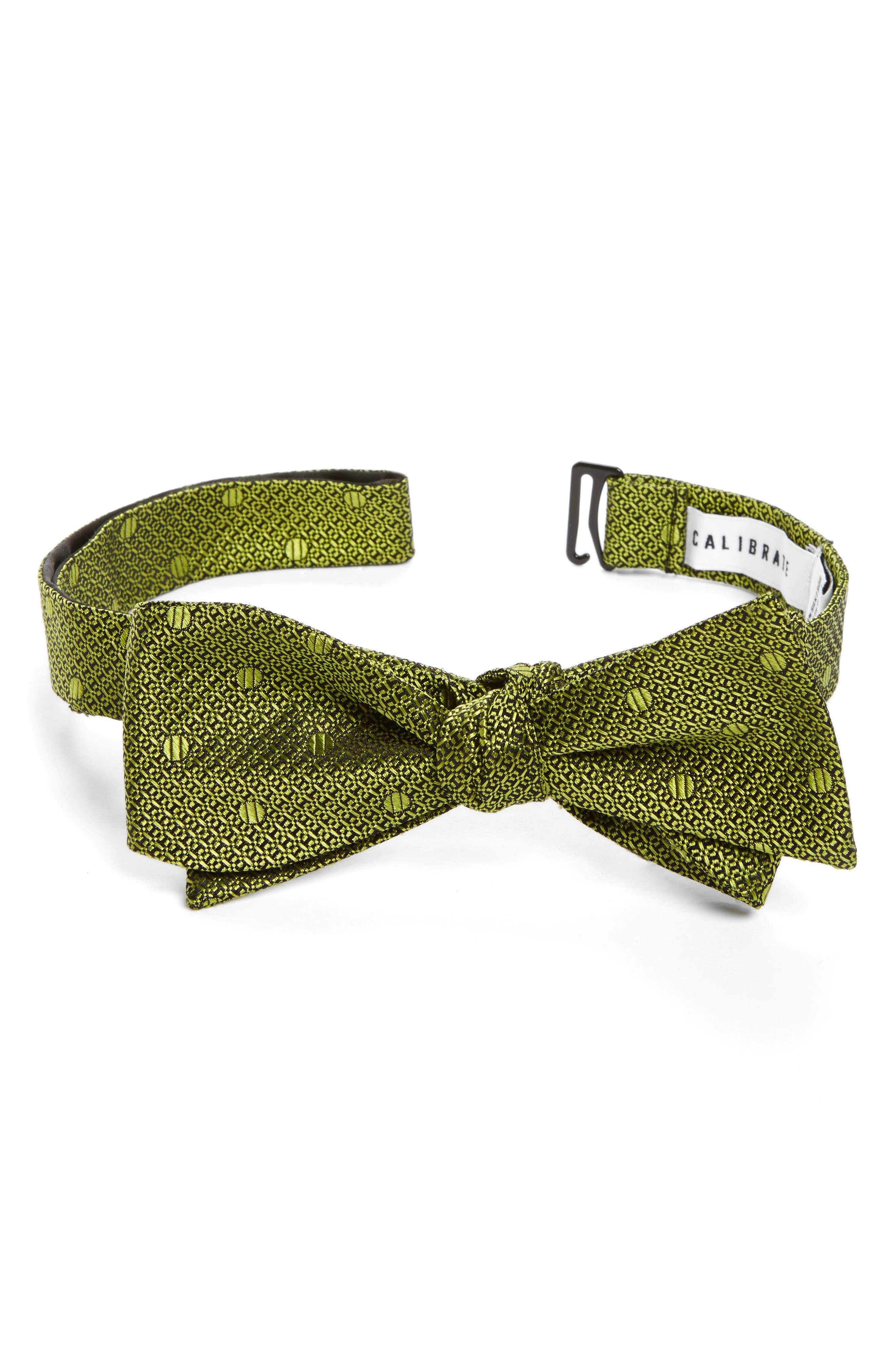Main Image - Calibrate Textured Dot Silk Bow Tie