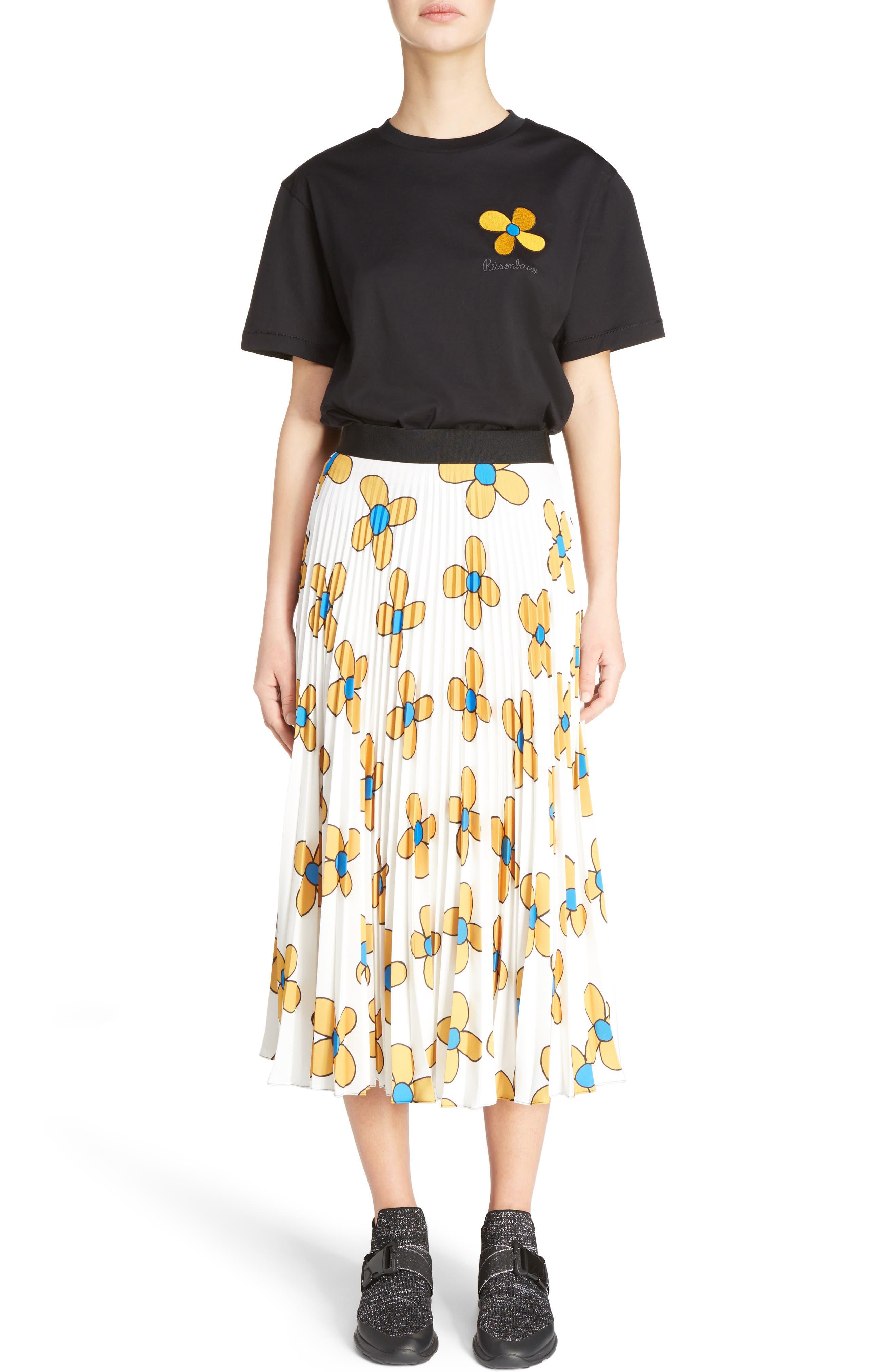 Alternate Image 8  - Christopher Kane Flower Print Midi Skirt