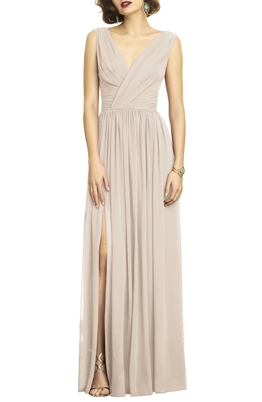 Dessy collection surplice ruched chiffon gown nordstrom ombrellifo Gallery