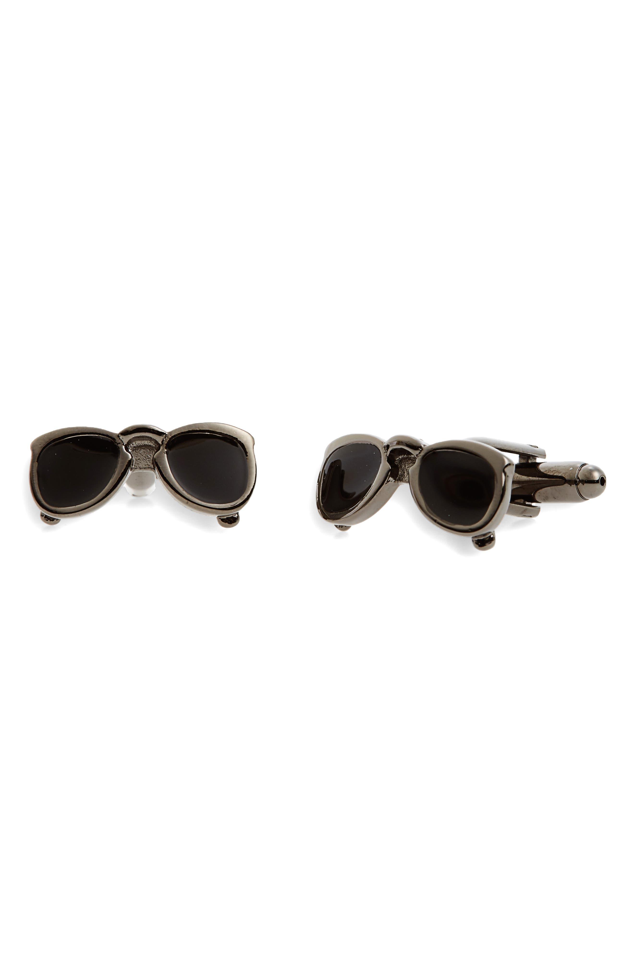 Sunglasses Cuff Links,                             Main thumbnail 1, color,                             Black