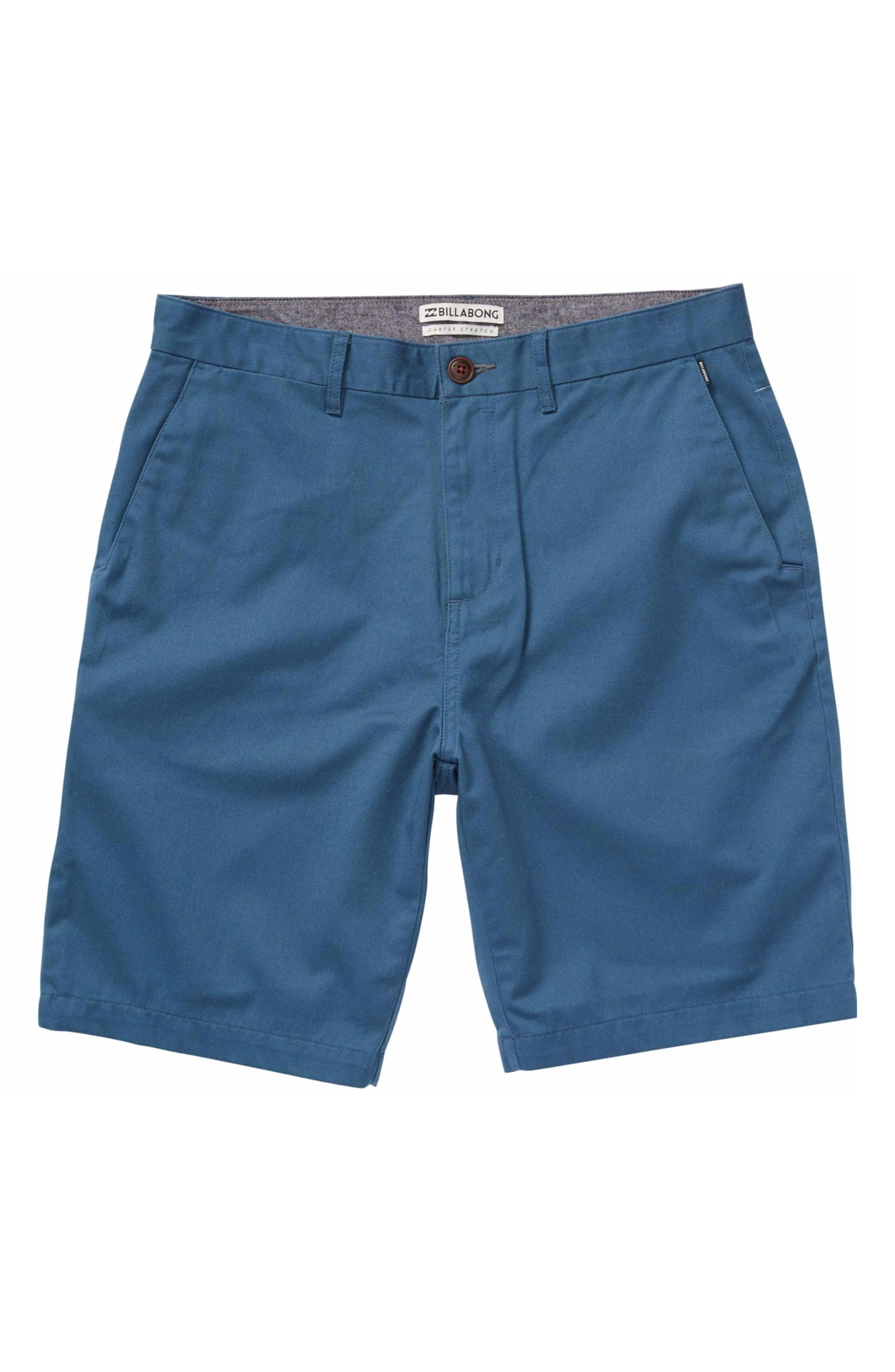 'Carter' Cotton Twill Shorts,                         Main,                         color, Harbor Blue