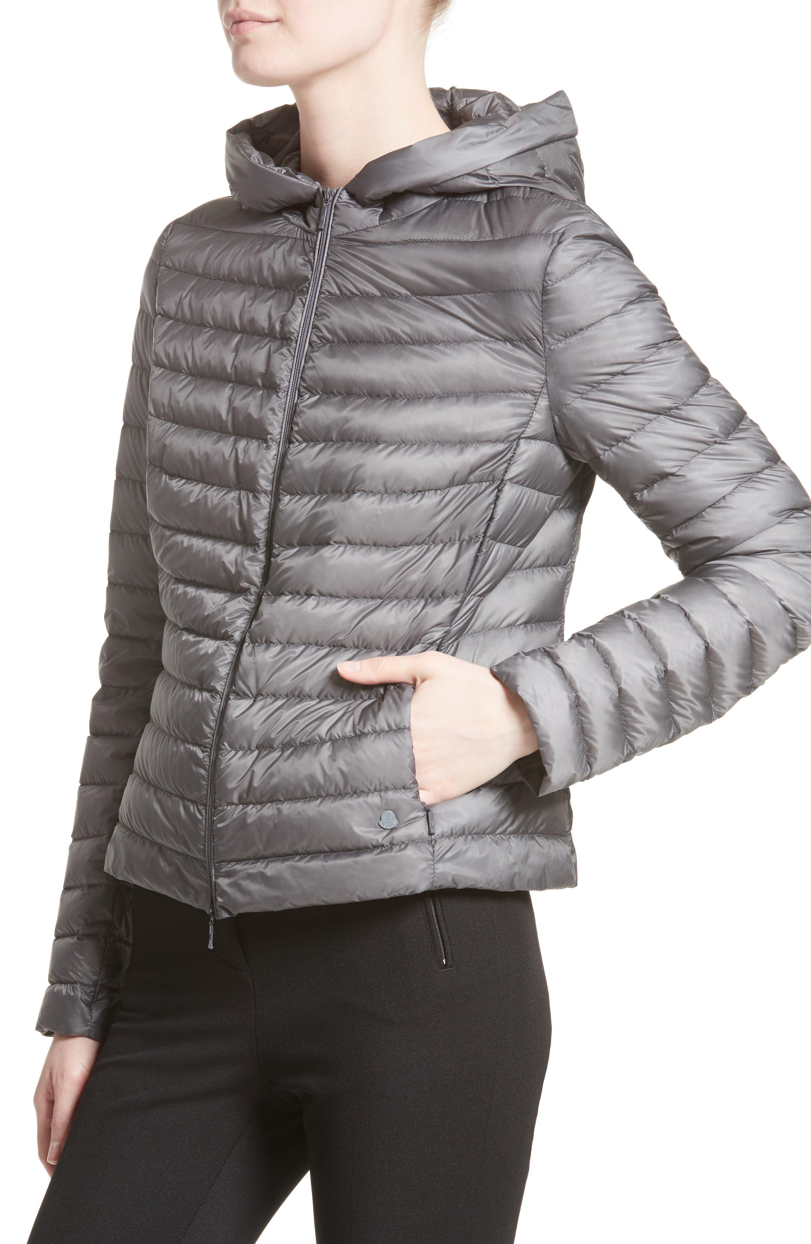 Alternate Image 4  - Moncler Sorbus Genuine Mink Fur Trim Quilted Jacket