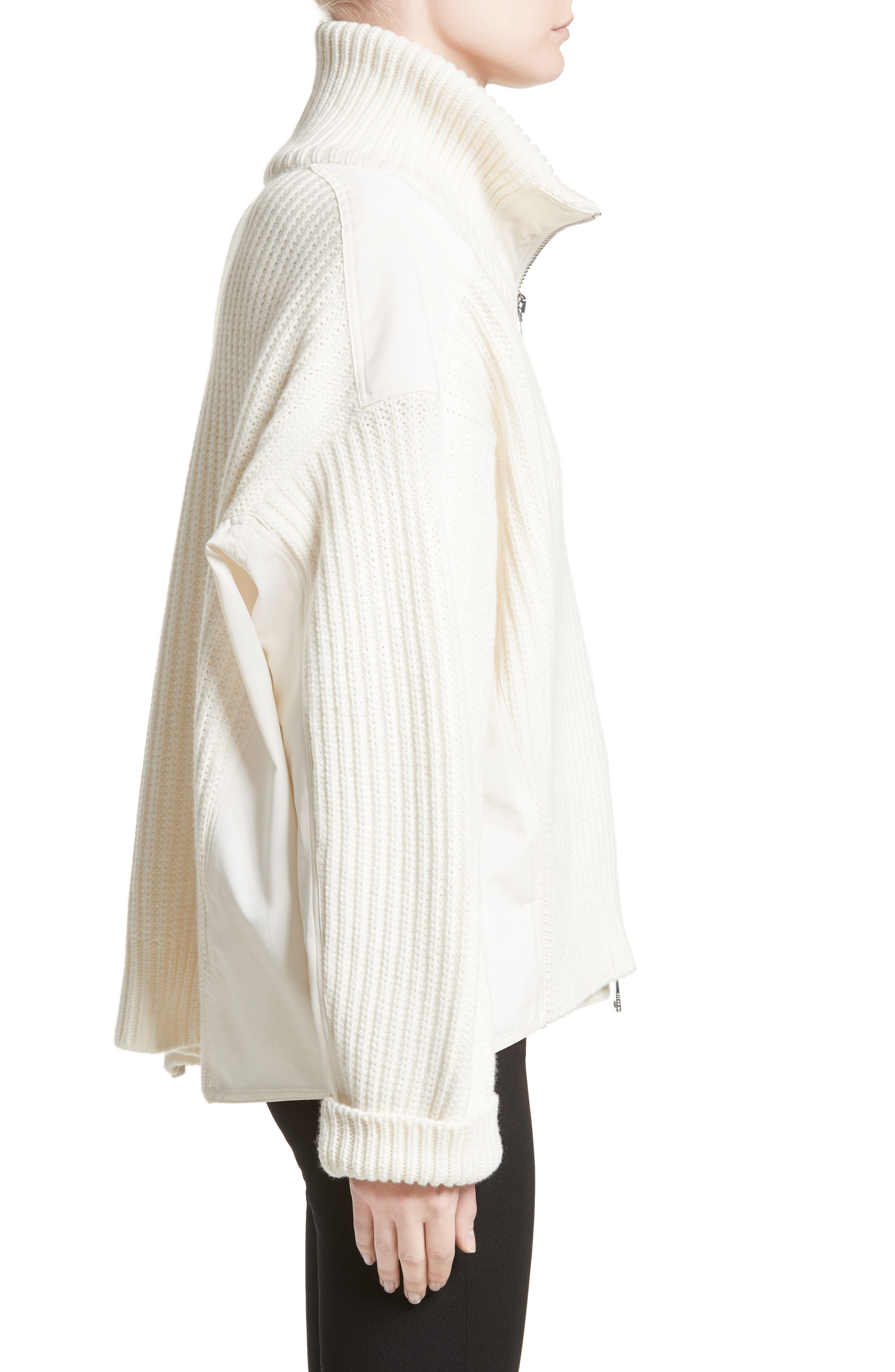 Wool & Cashmere Cardigan,                             Alternate thumbnail 3, color,                             White