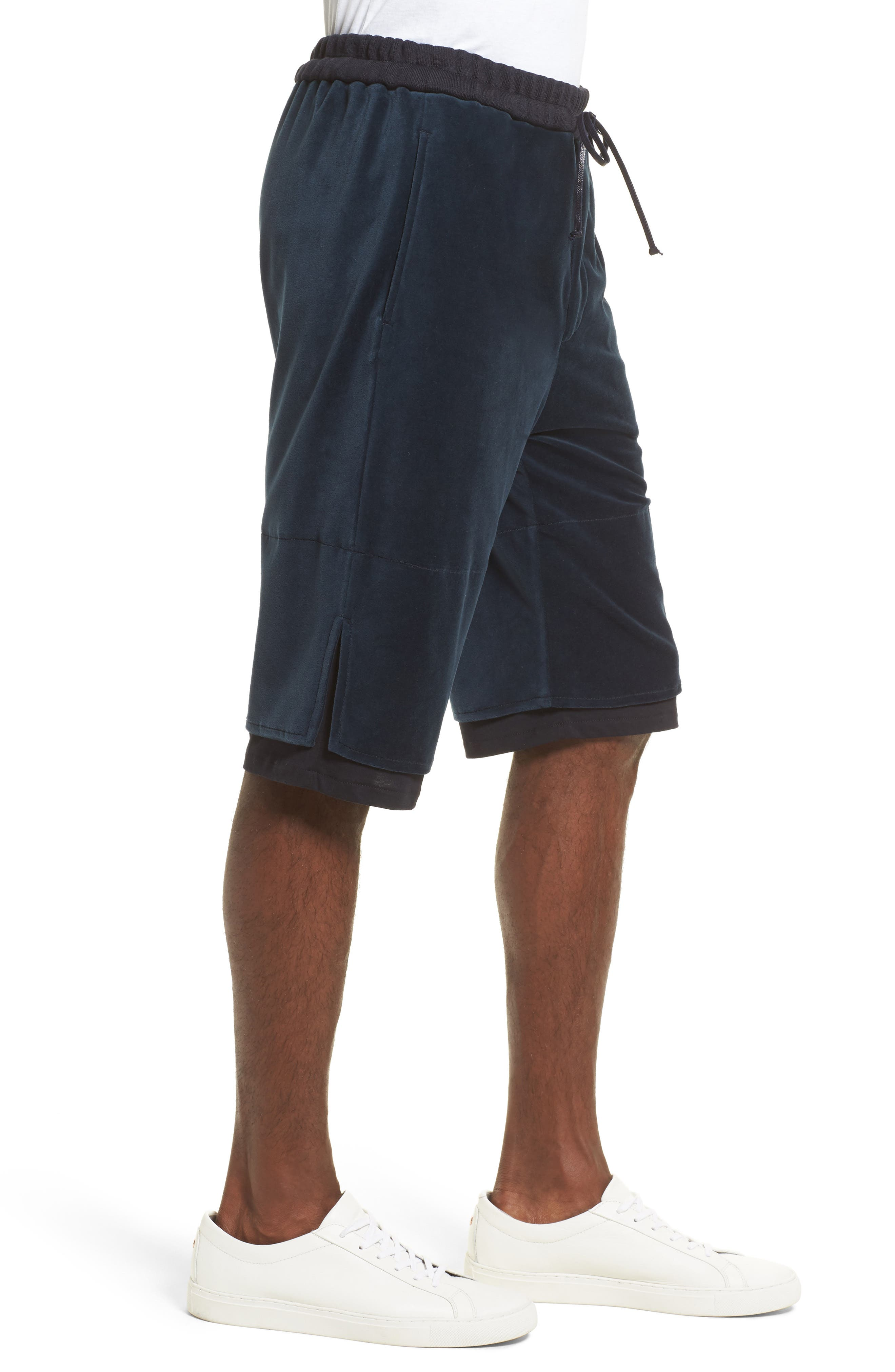 Double Layer Shorts,                             Alternate thumbnail 3, color,                             Navy
