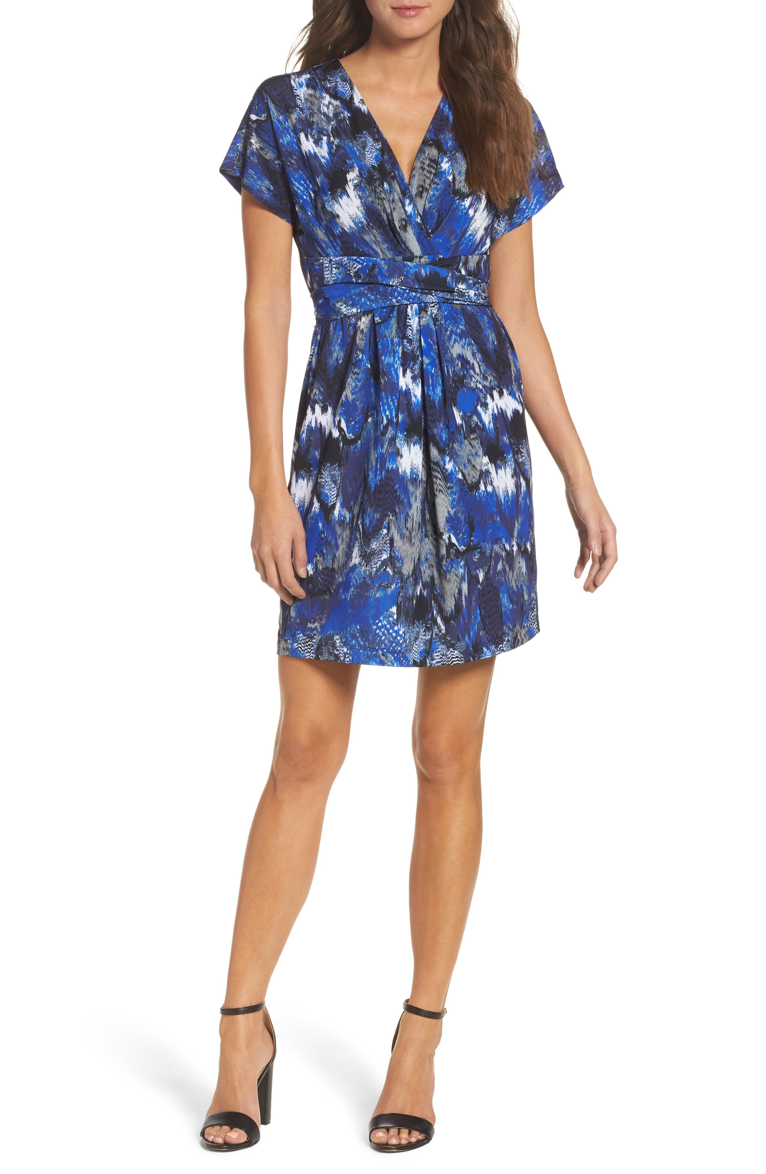 BCBGMAXAZRIA Avery Paradise Wrap Dress