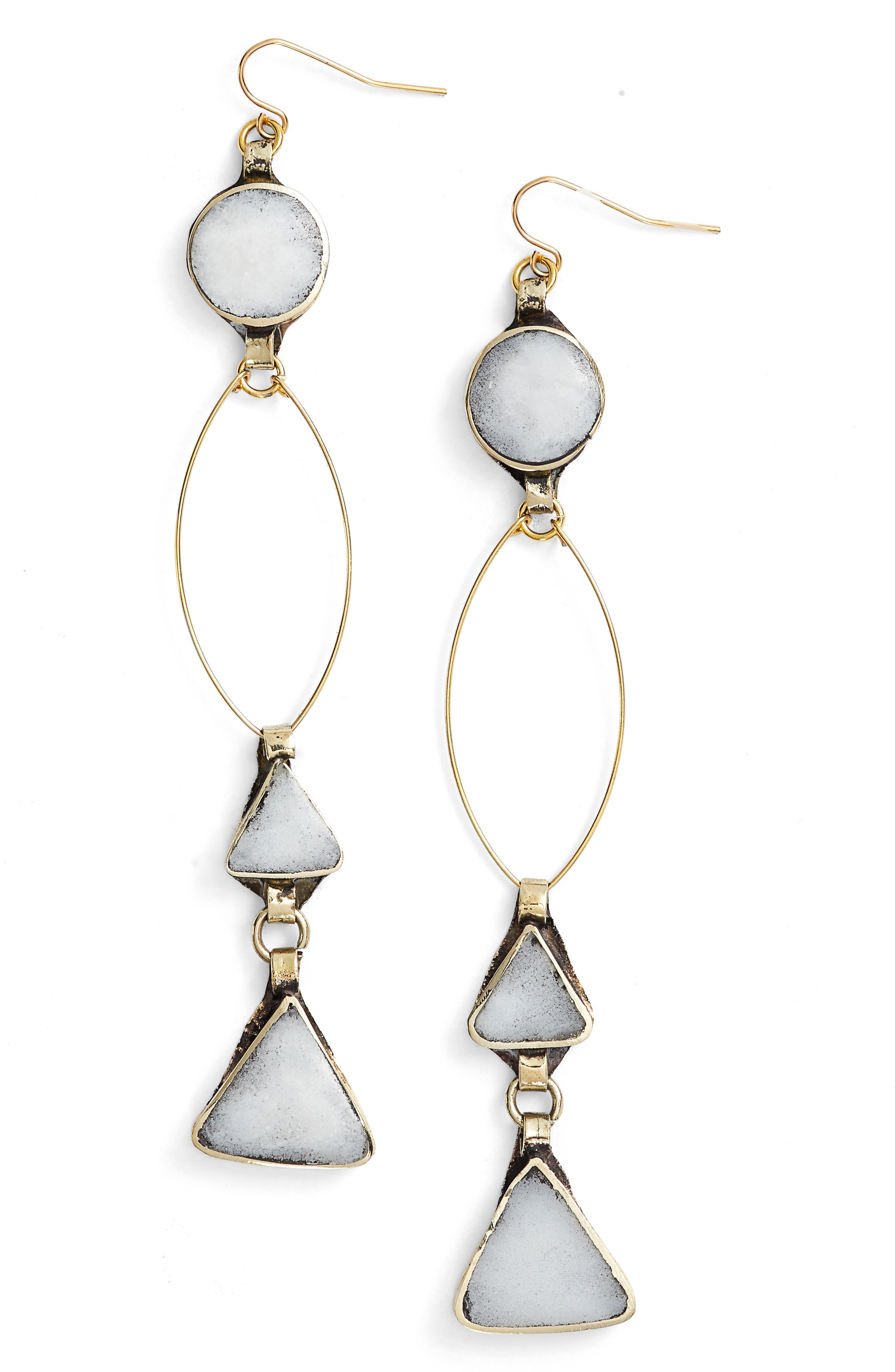 Wynonna Drop Earrings,                         Main,                         color, Gold