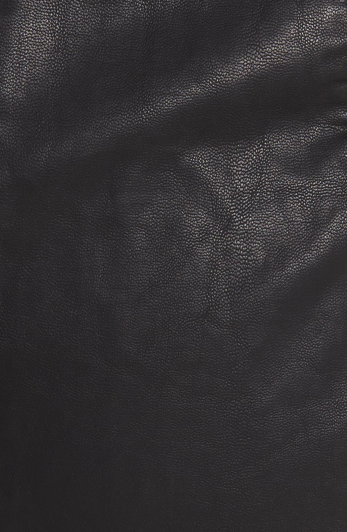 Modern Femme Faux Leather Miniskirt,                             Alternate thumbnail 5, color,                             Black