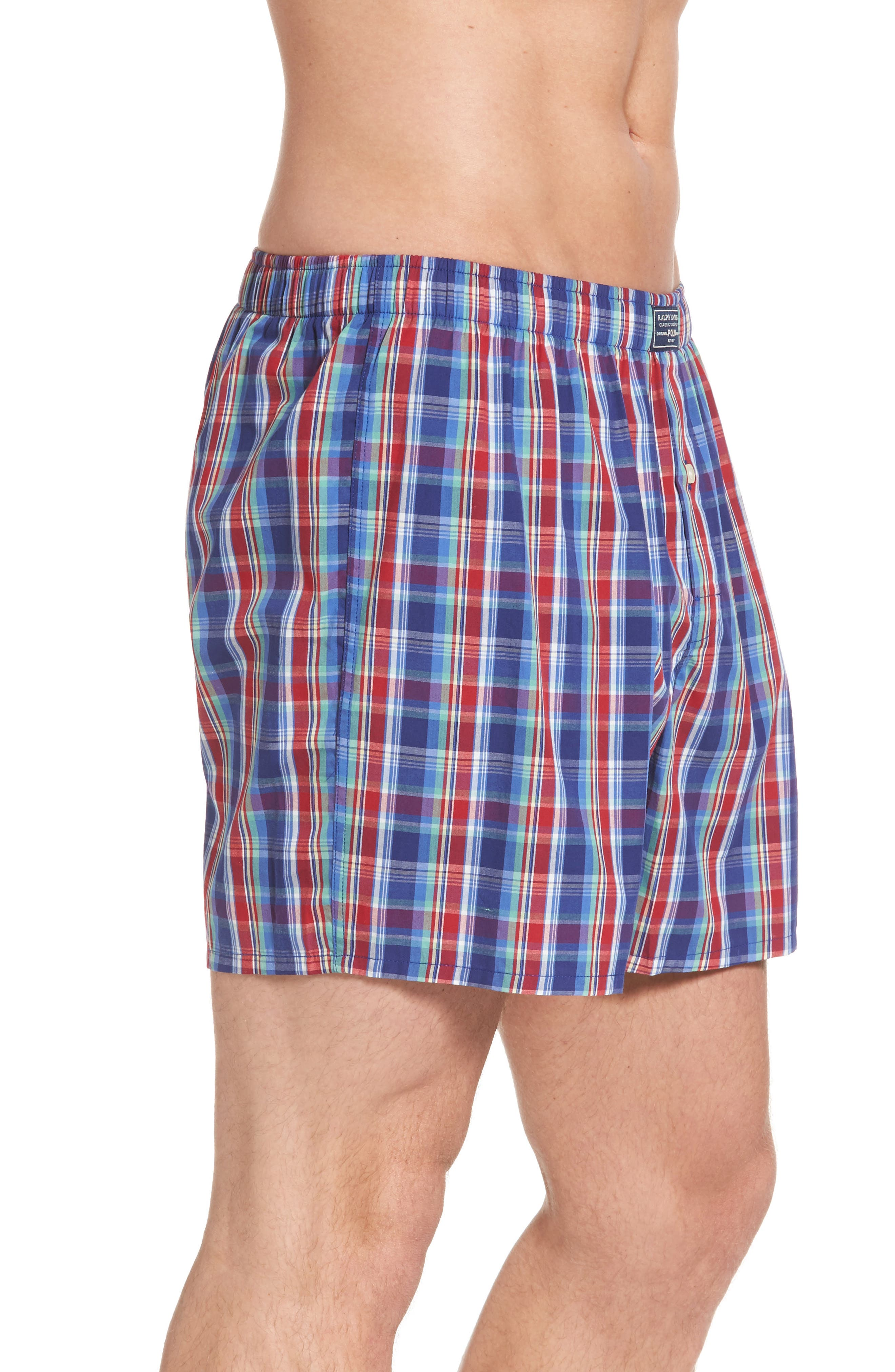 Classic Woven Cotten Boxers,                             Alternate thumbnail 3, color,                             Baxter Plaid