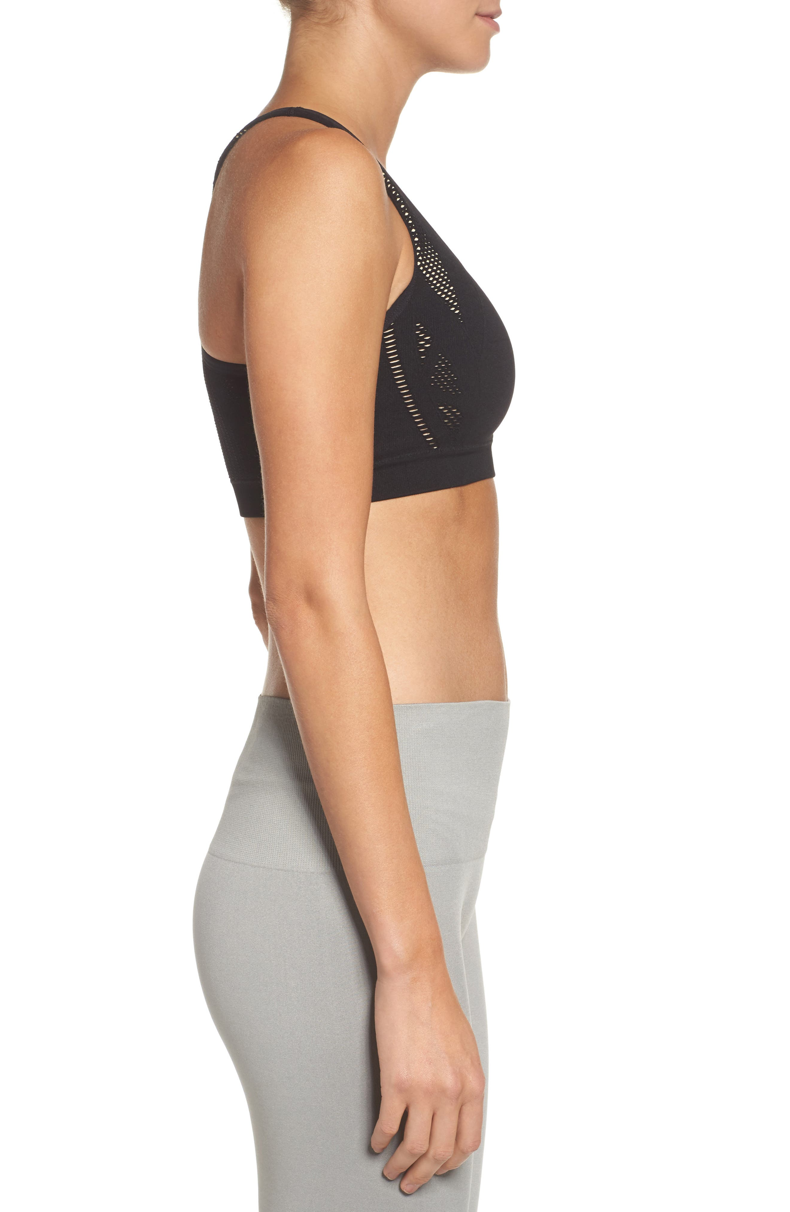 Alternate Image 3  - Climawear Make the Cut Seamless Sports Bra
