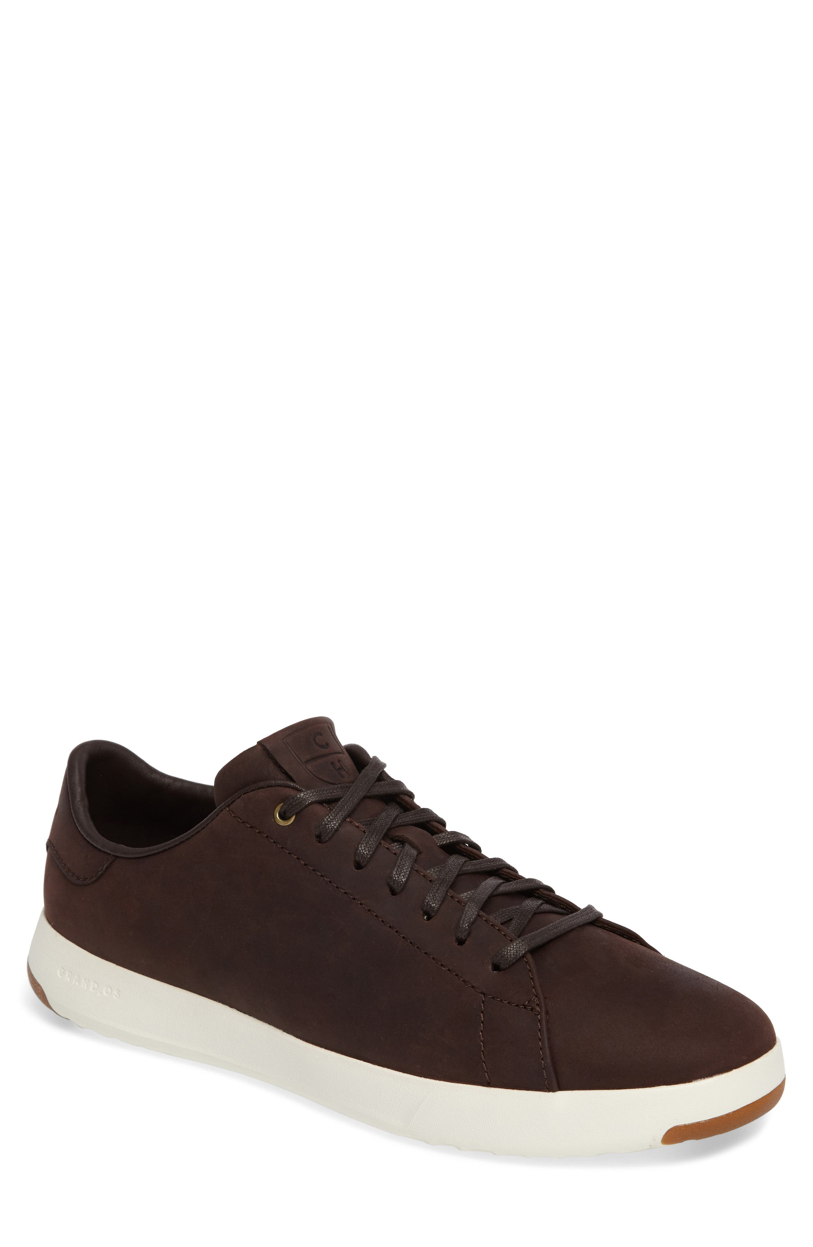 GrandPro Tennis Sneaker,                         Main,                         color, Java Leather