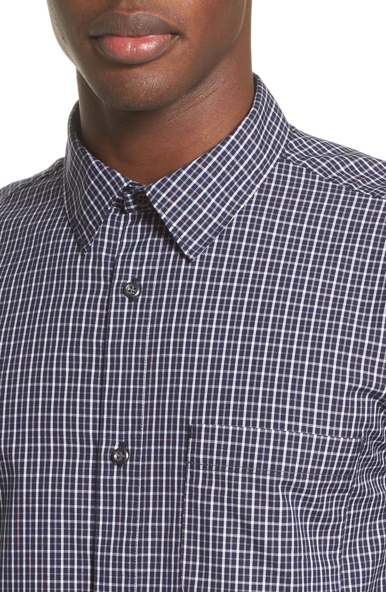 Alternate Image 4  - A.P.C. Chemise Trek Woven Check Sport Shirt