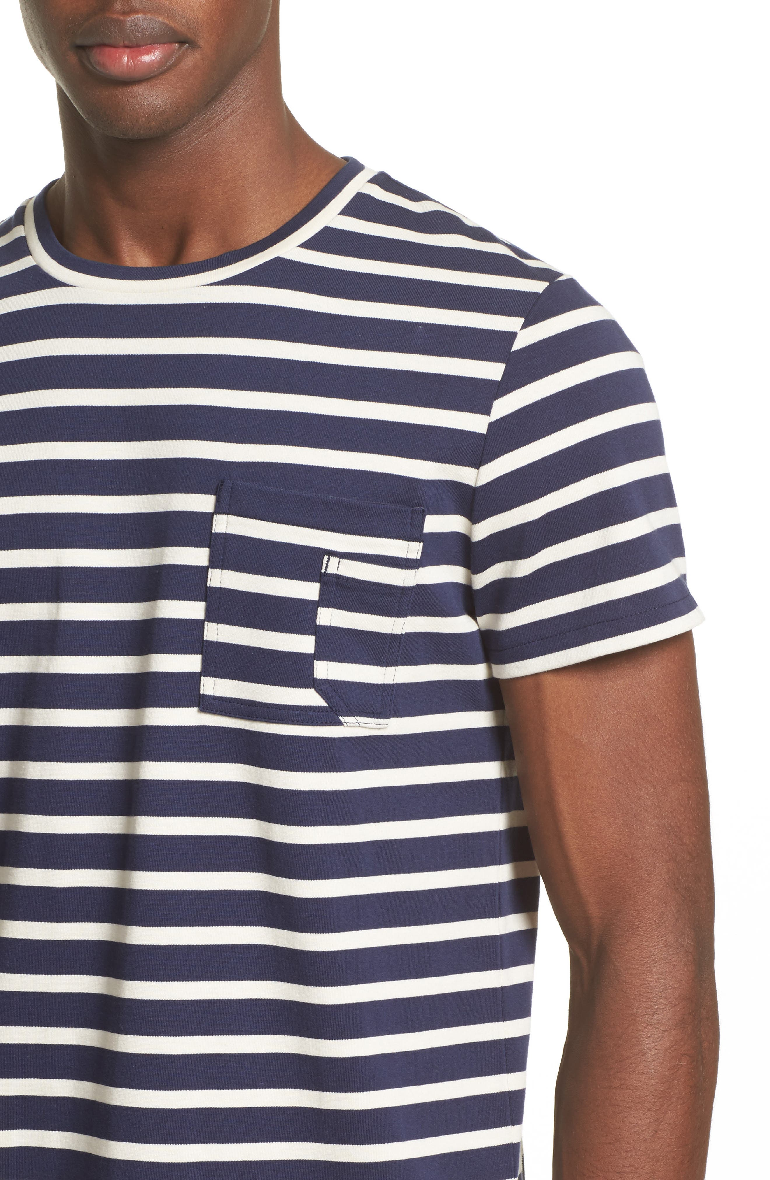 Alternate Image 4  - A.P.C. Stripe Pocket T-Shirt