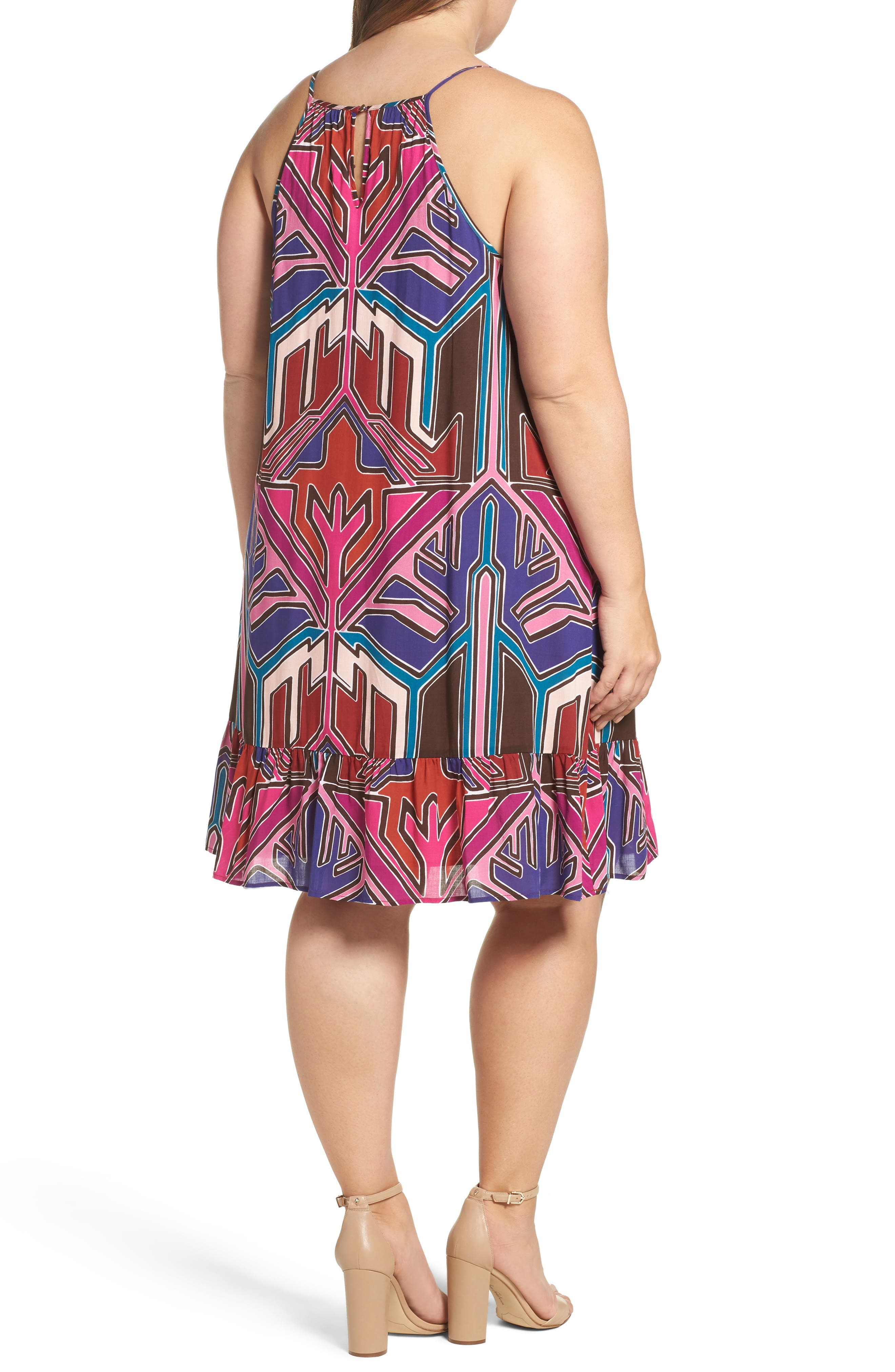 Angelica A-Line Shift Dress,                             Alternate thumbnail 3, color,                             Painted Aztec