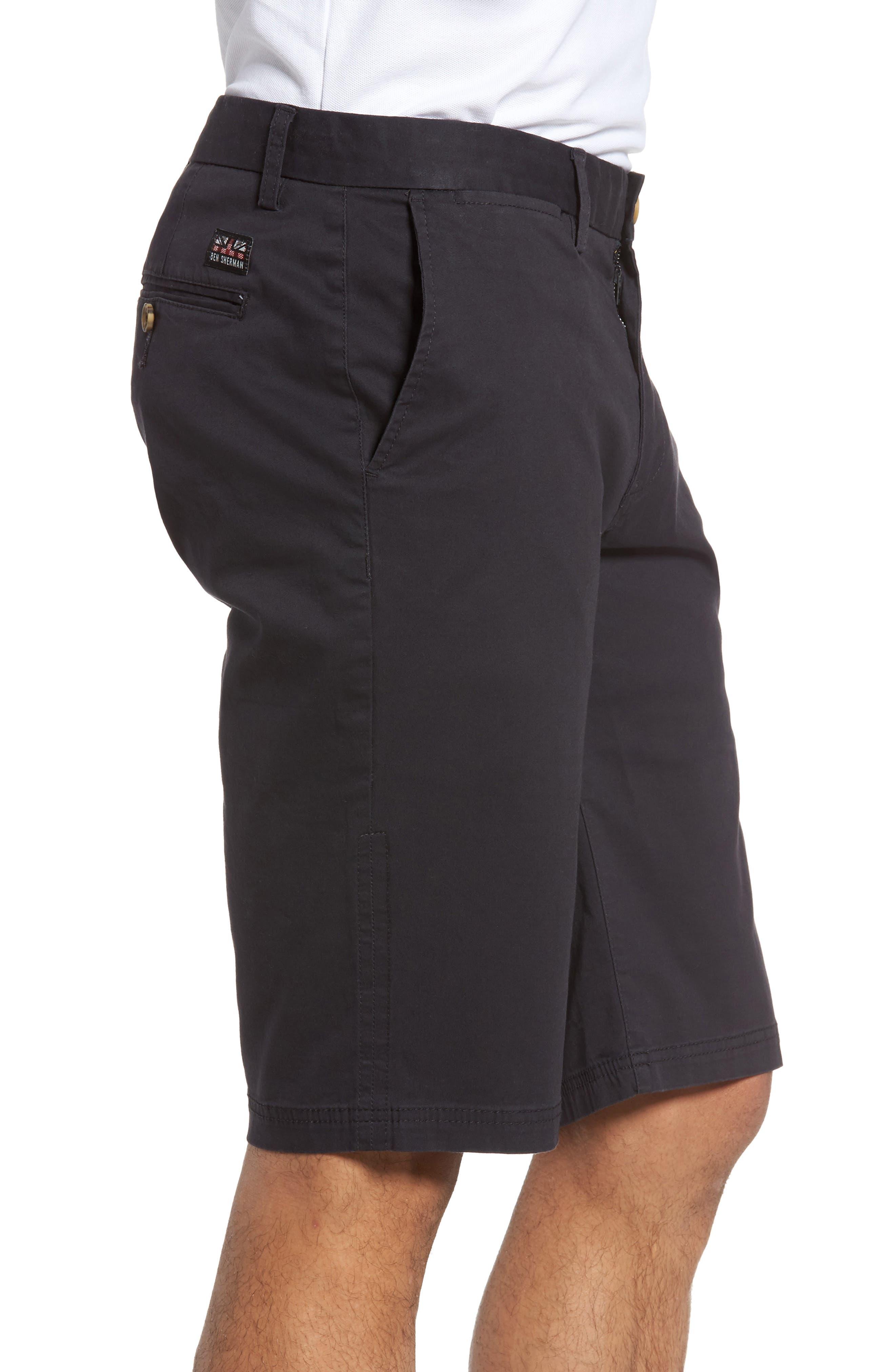 Slim Stretch Chino Shorts,                             Alternate thumbnail 3, color,                             Dark Navy