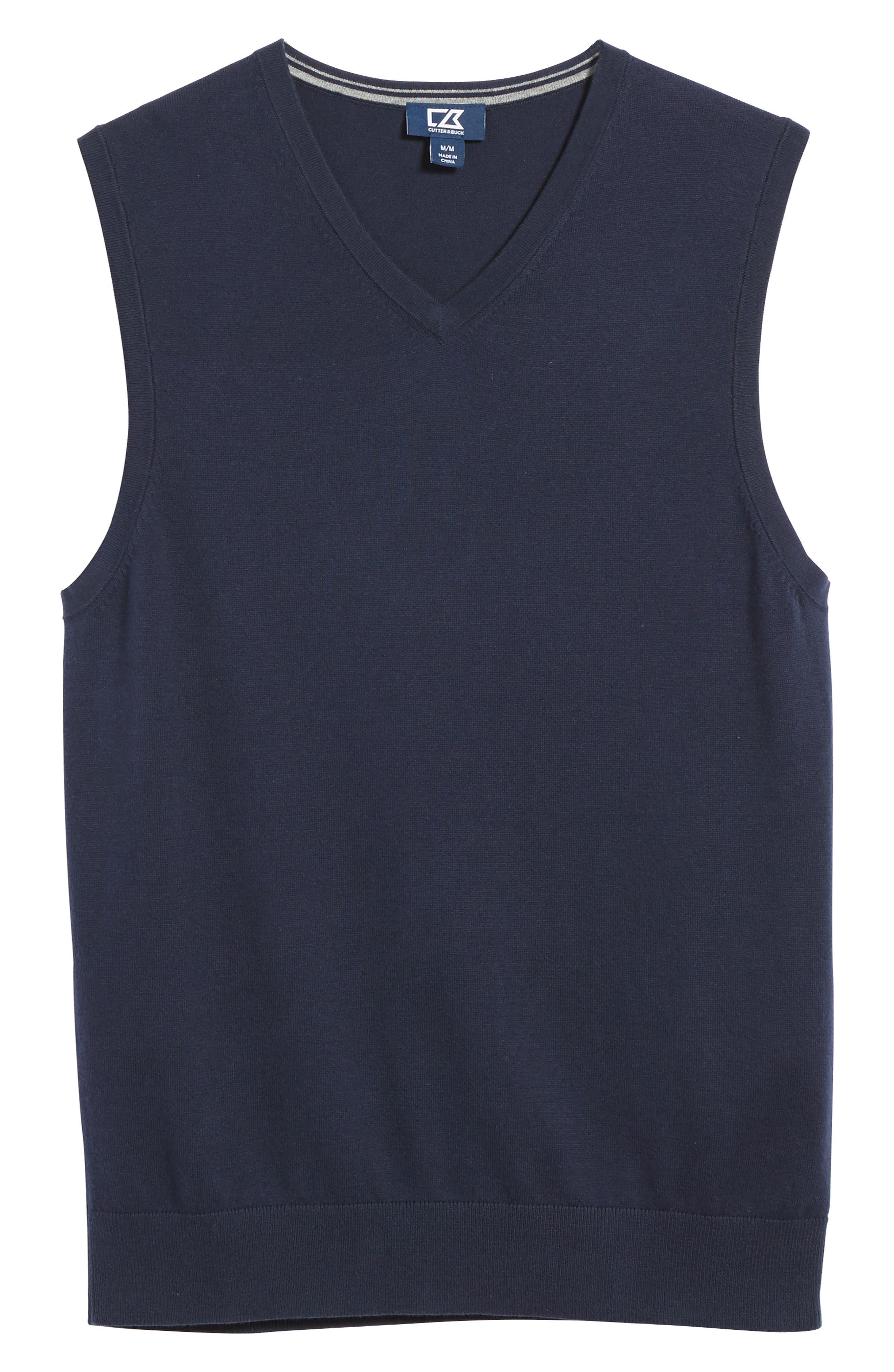 Lakemont V-Neck Sweater Vest,                             Alternate thumbnail 6, color,                             Liberty Navy