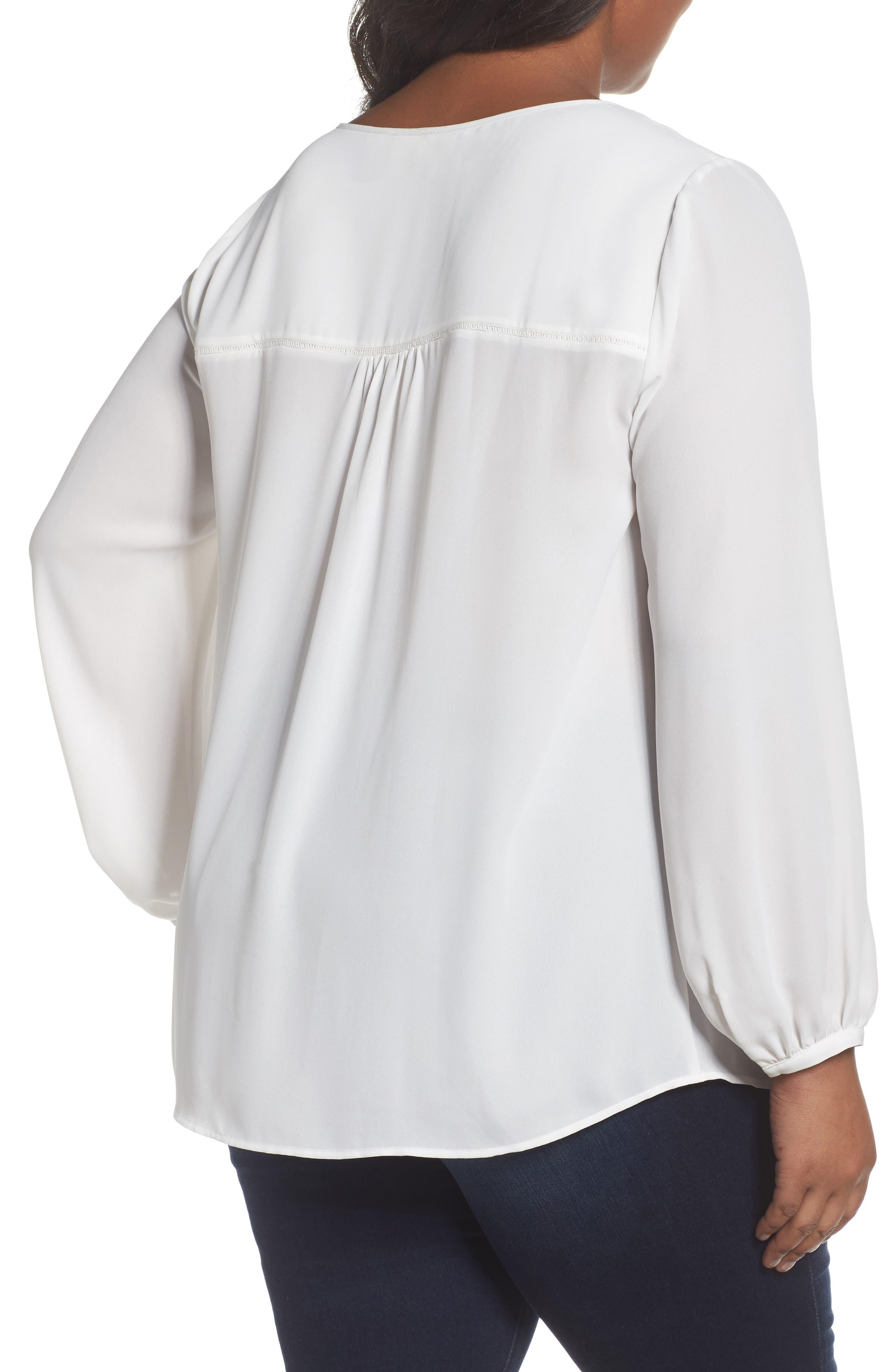 Alternate Image 2  - Sejour Pintuck Blouse (Plus Size)