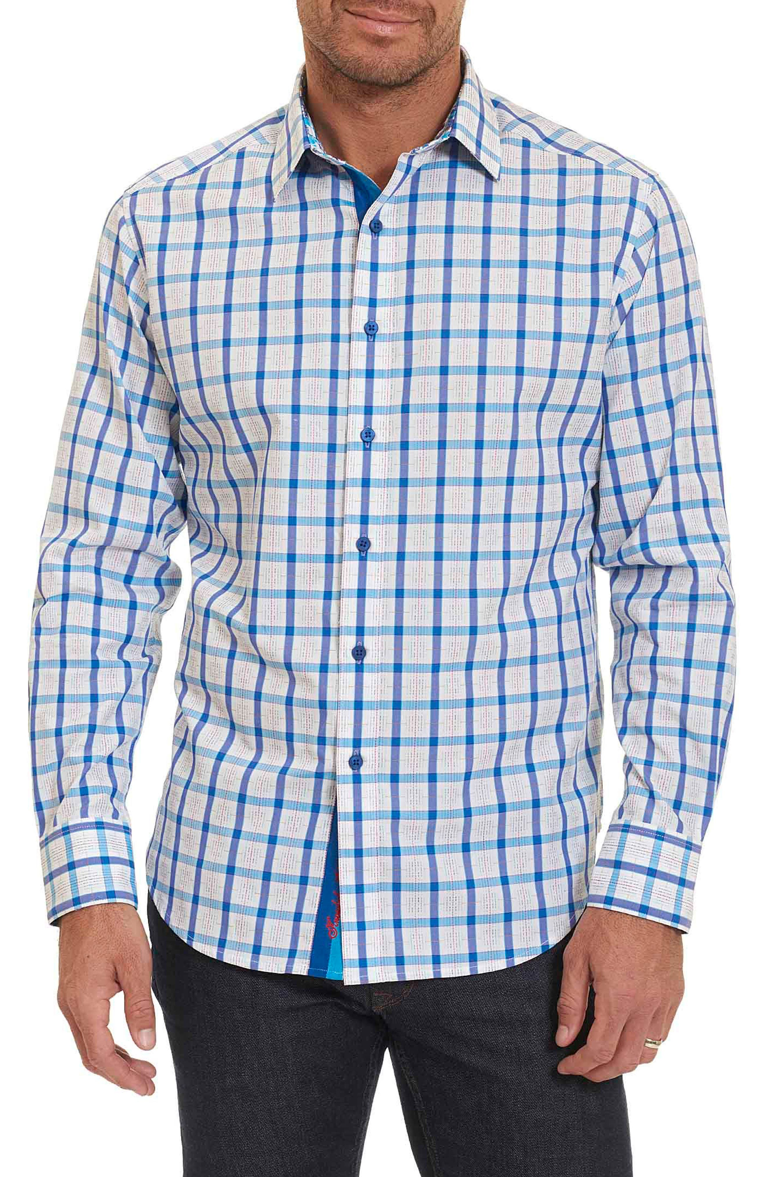 Main Image - Robert Graham Classic Fit Check Sport Shirt (Tall)