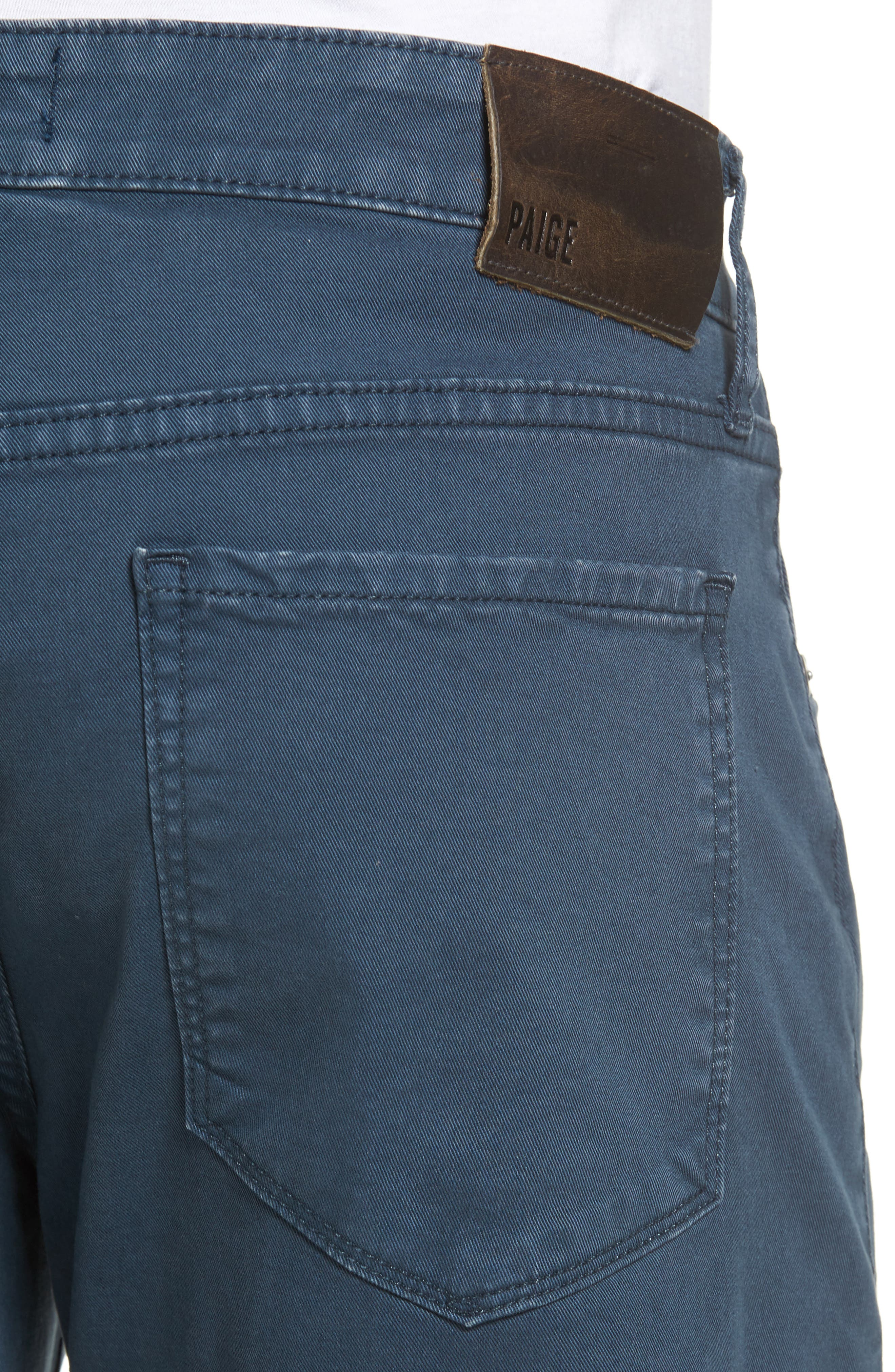 Alternate Image 4  - PAIGE Lennox Slim Fit Five-Pocket Pants