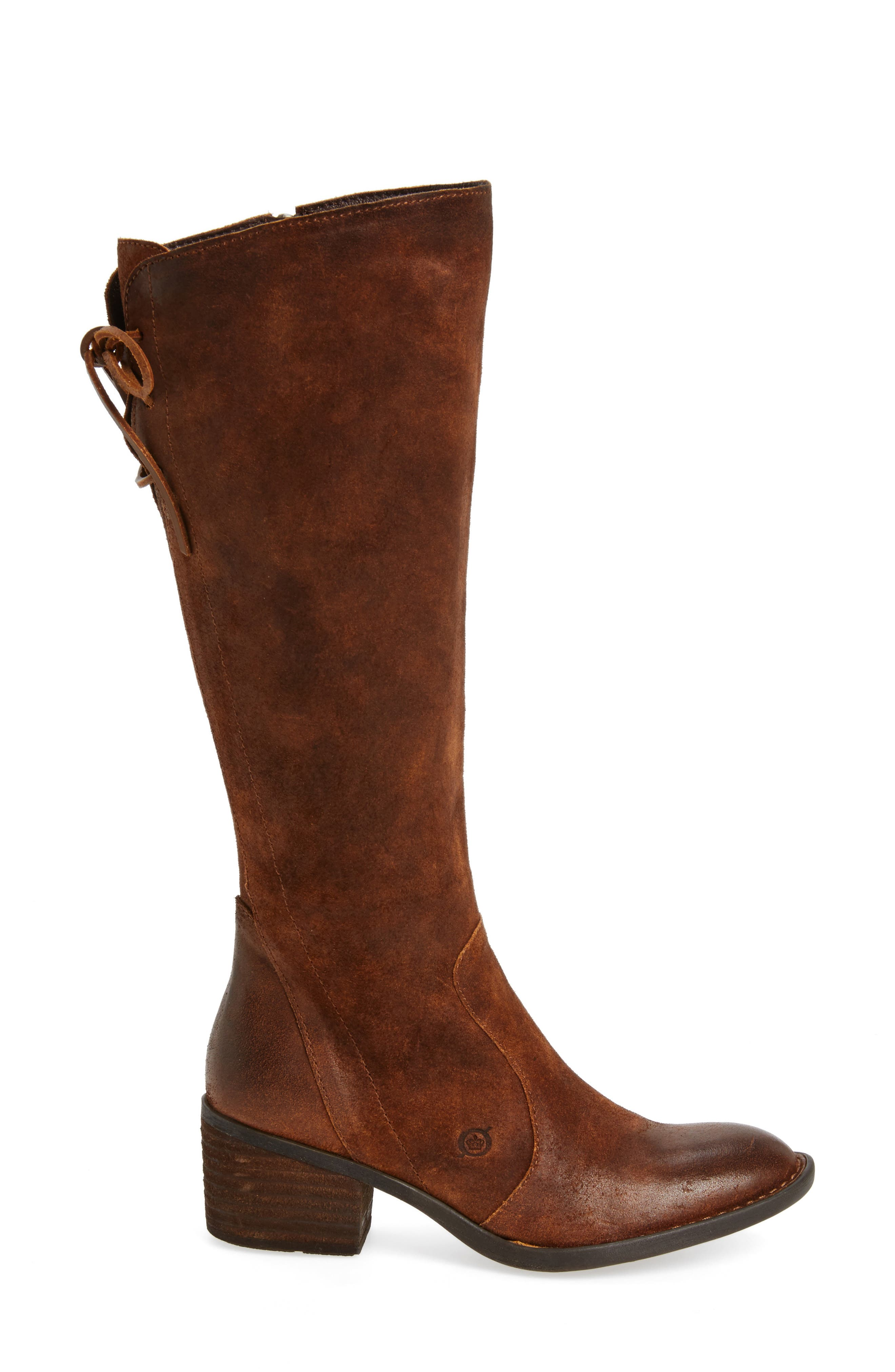 Felicia Knee High Boot,                             Alternate thumbnail 3, color,                             Rust Distressed Leather