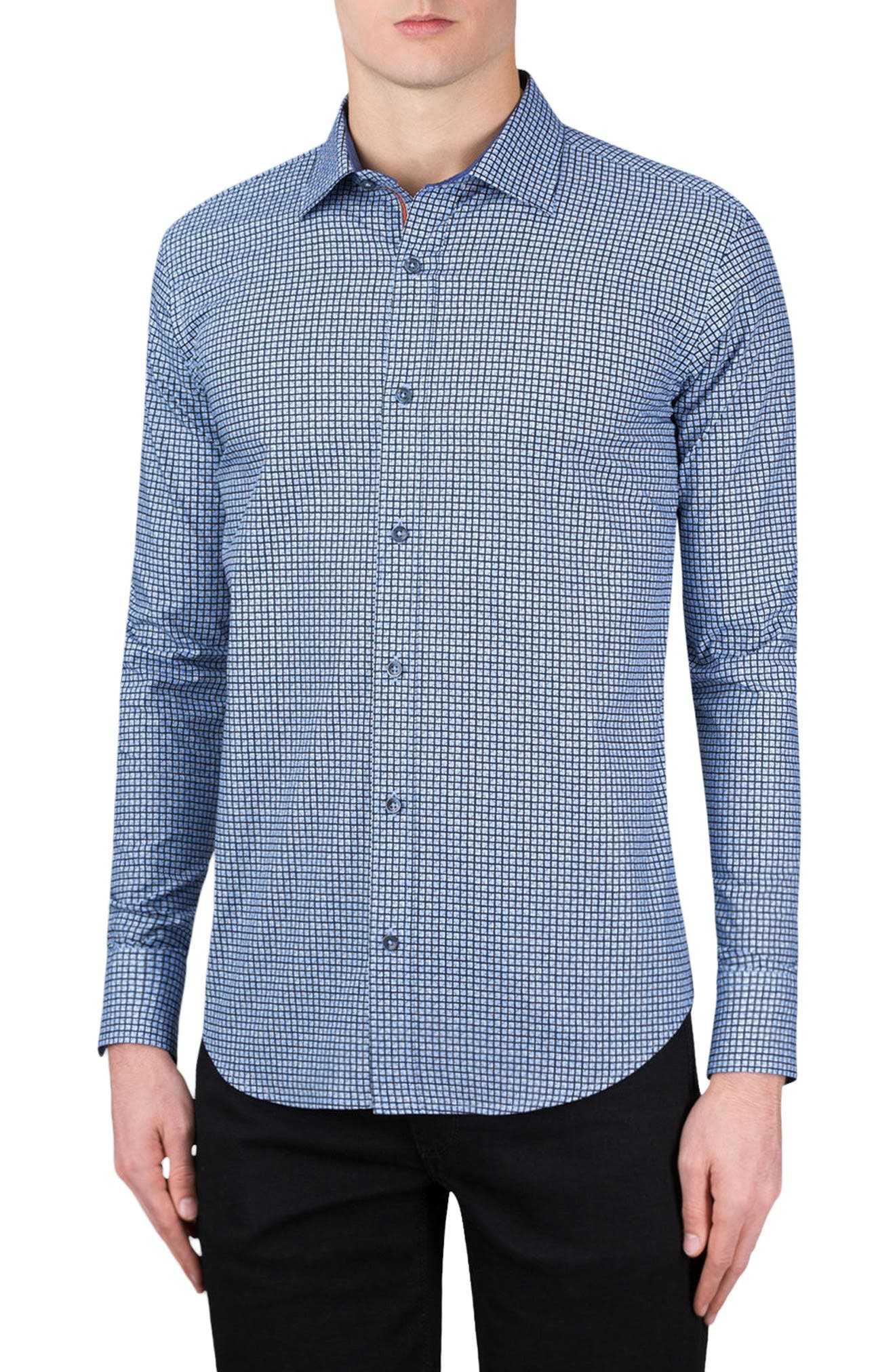 BUGATCHI Shaped Fit Sport Shirt