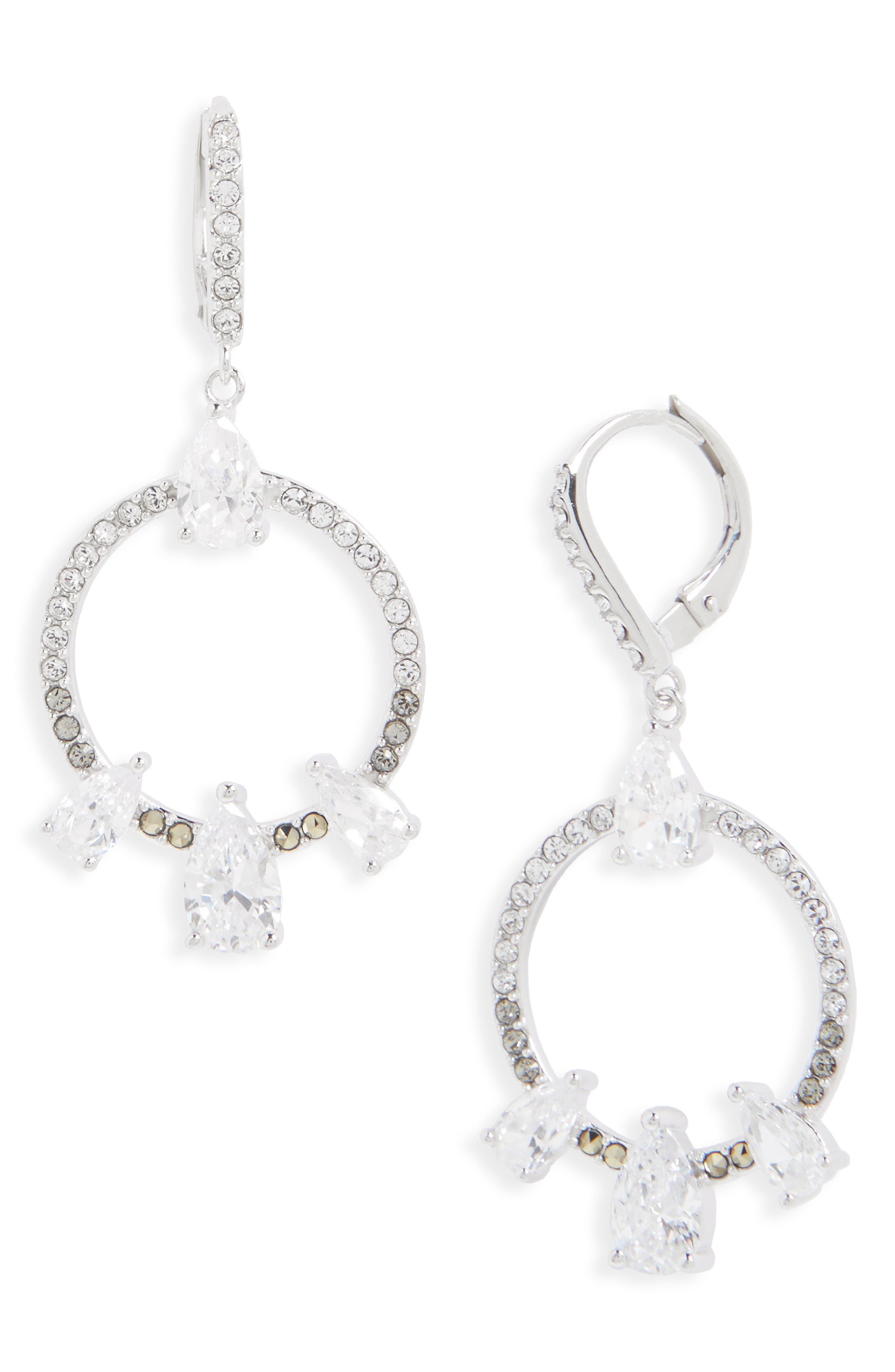 JUDITH JACK Lend an Ear Circle Drop Earrings