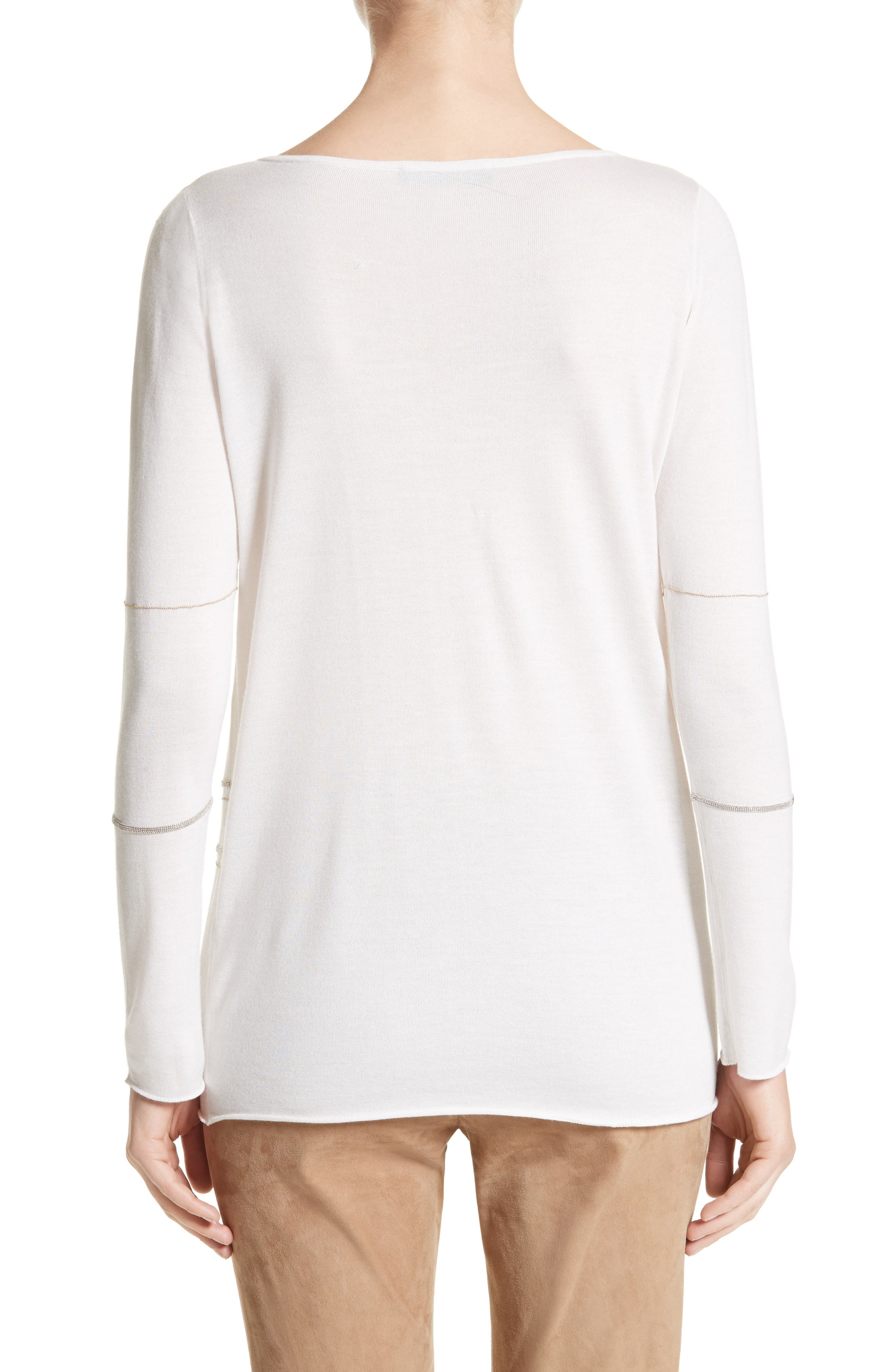 Alternate Image 2  - Fabiana Filippi Metallic Trim Cashmere & Silk Sweater