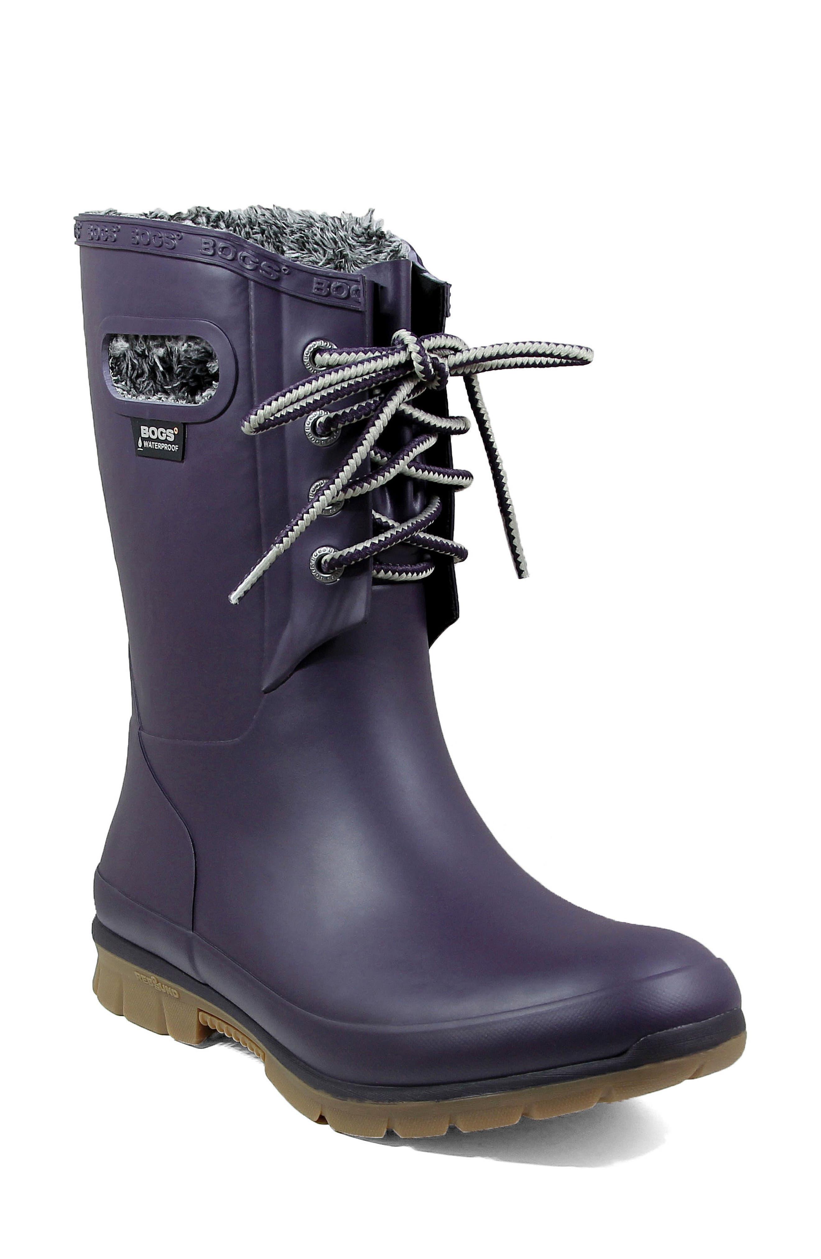 Alternate Image 1 Selected - Bogs Amanda Plush Waterproof Rain Boot (Women)