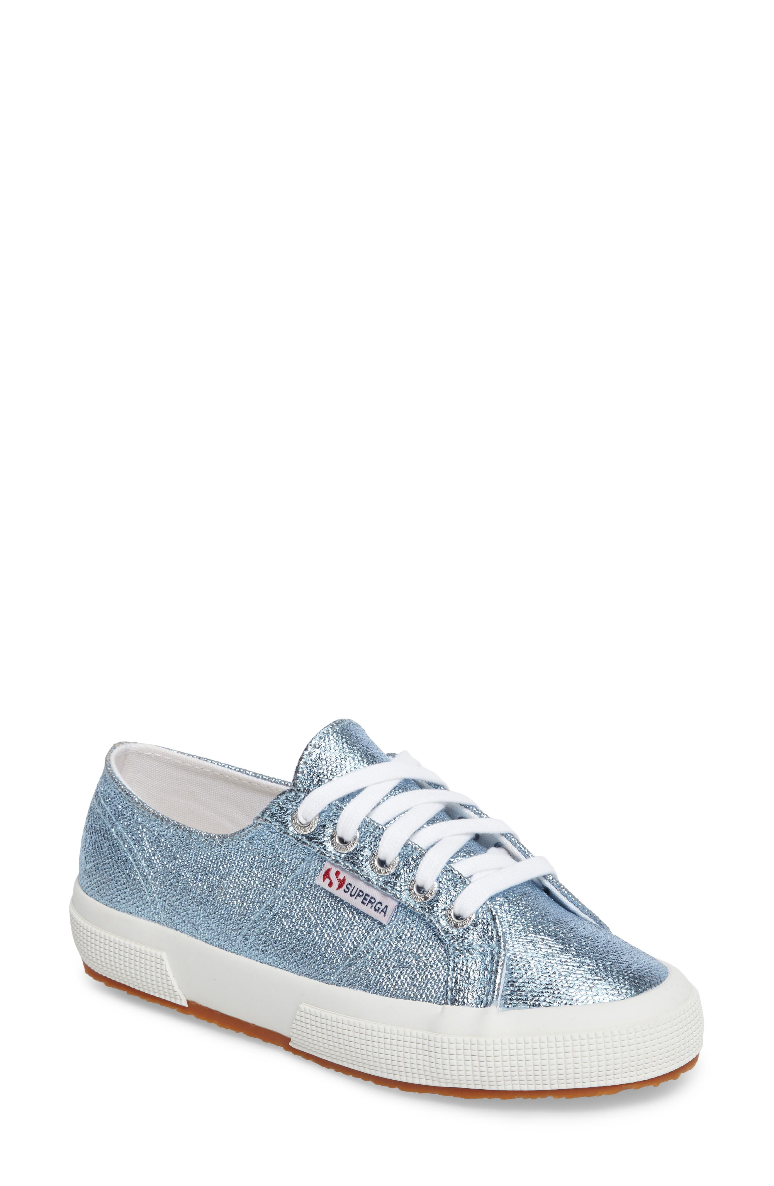 2750 Metallic Sneaker,                             Main thumbnail 1, color,                             Light Blue