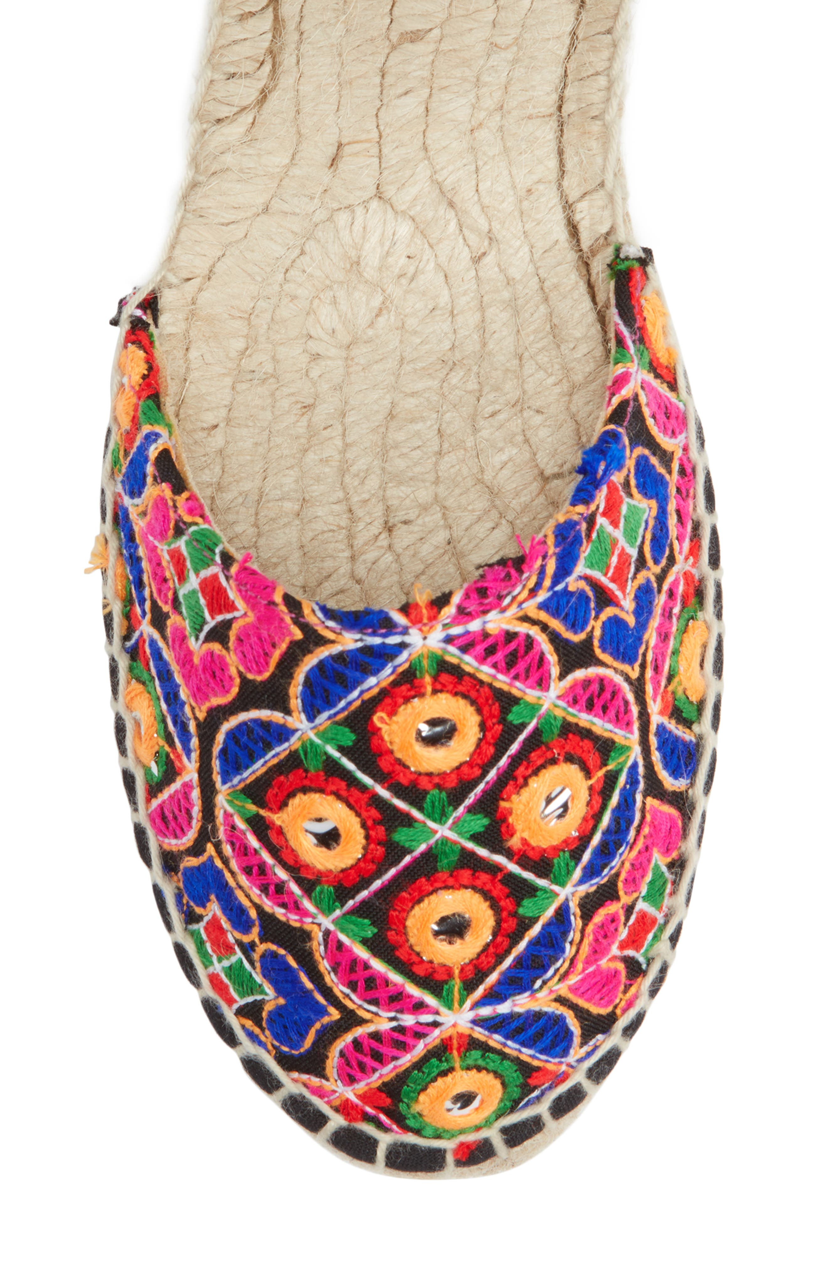 MANEBÍ Rajasthan Espadrille Sandal,                             Alternate thumbnail 5, color,                             Indian Fabric