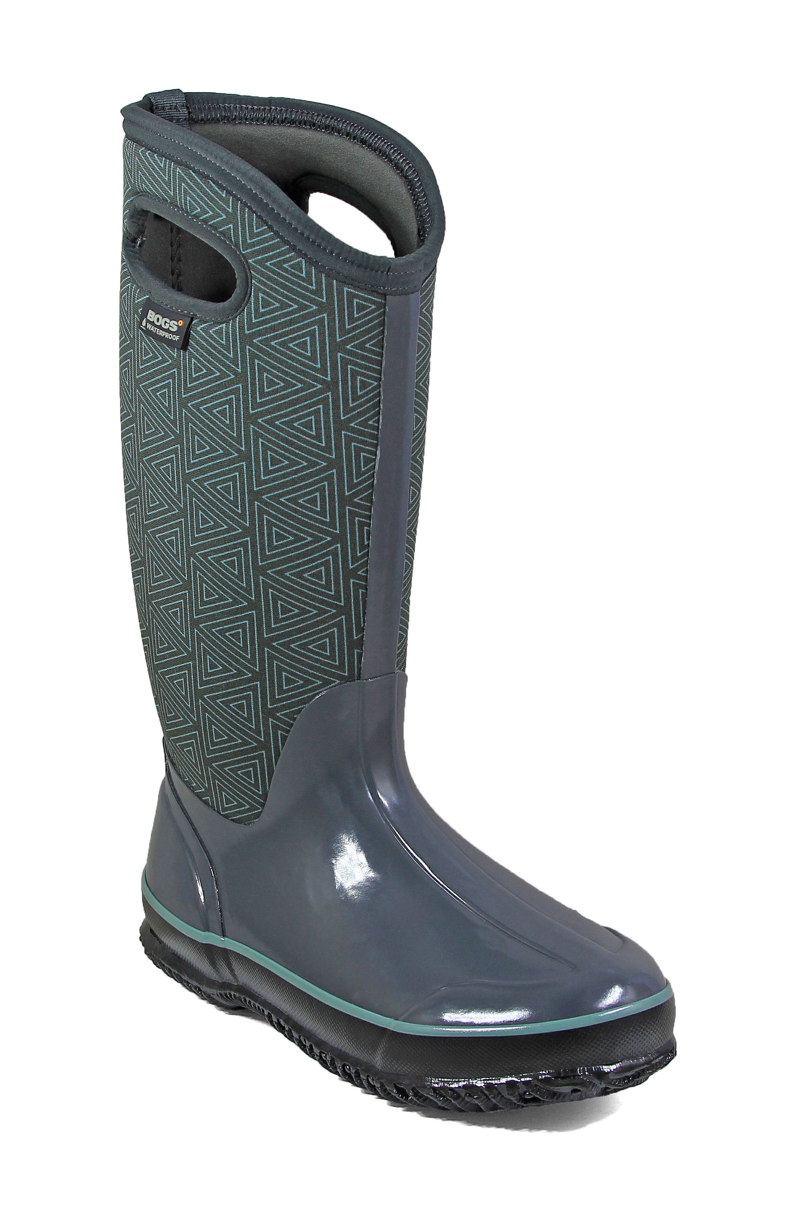 Classic Triangles Waterproof Subzero Insulated Boot,                             Main thumbnail 1, color,                             Dark Grey Multi