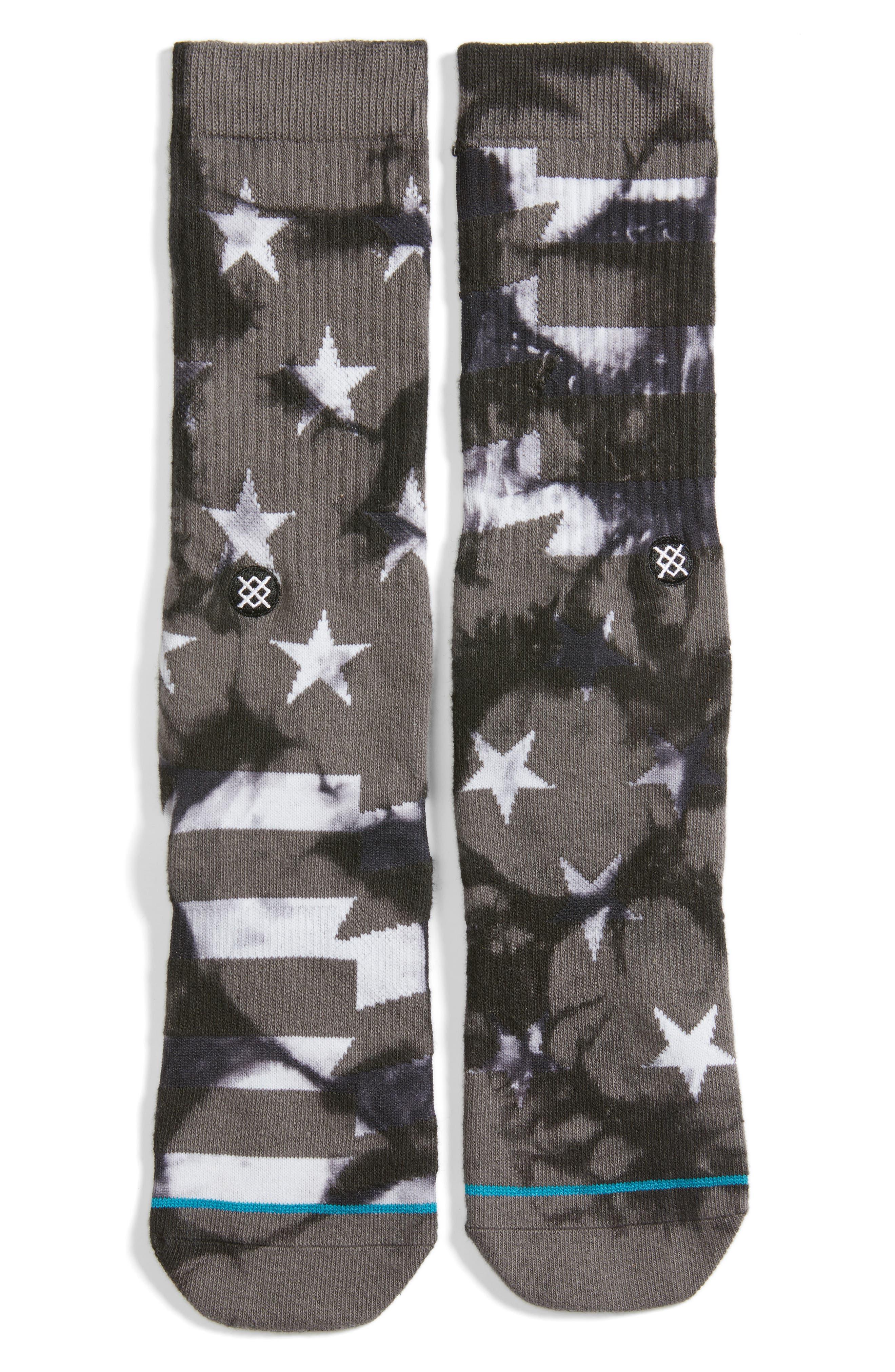 Victory Crew Socks,                         Main,                         color, Grey