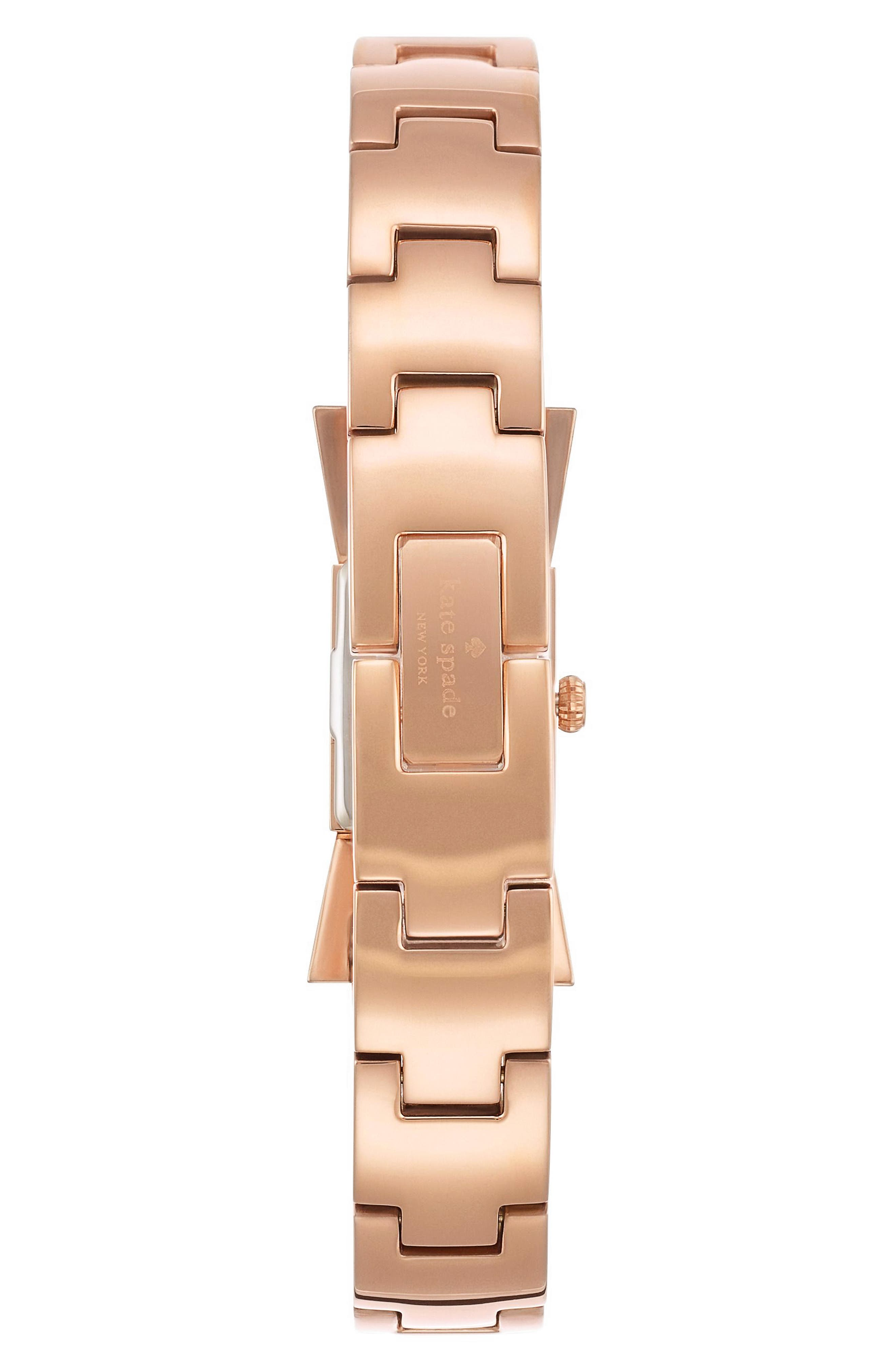 carlyle bow bangle watch, 16mm,                             Alternate thumbnail 2, color,                             White/ Rose Gold
