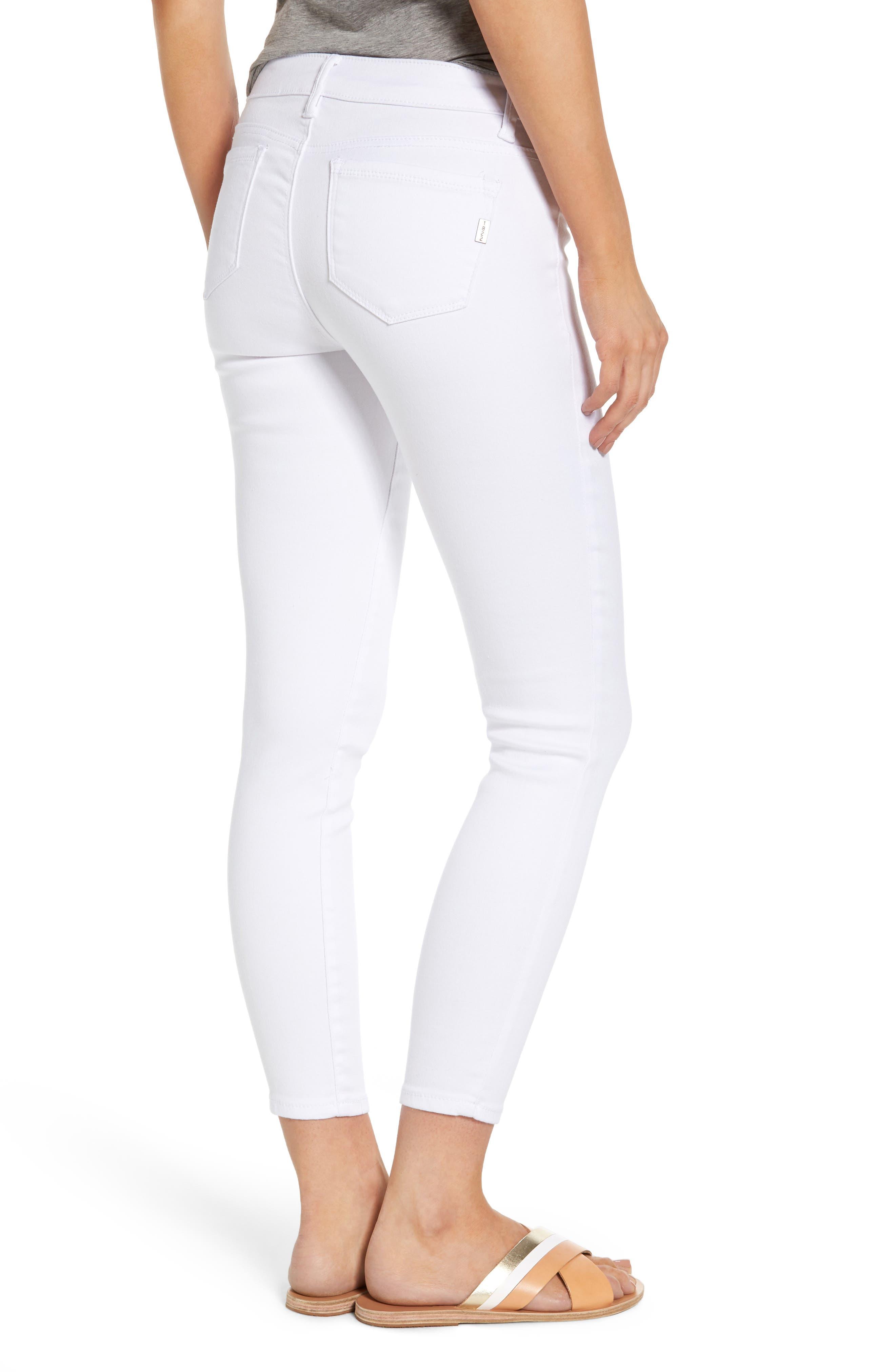 1822 Butter Skinny Jeans,                             Alternate thumbnail 2, color,                             Wht