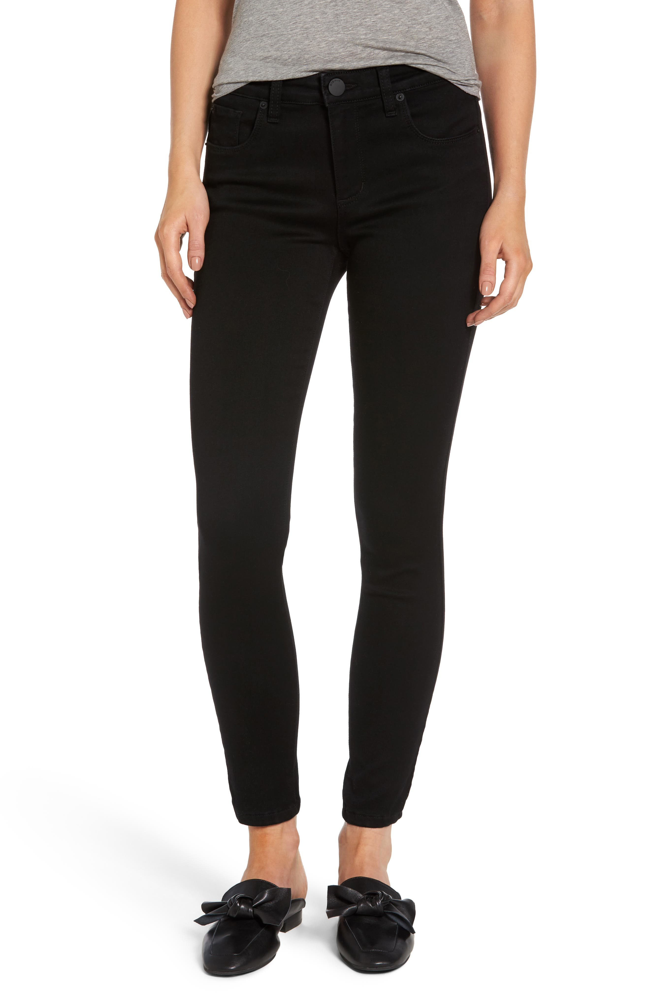 Emma Ankle Skinny Jeans,                         Main,                         color, Black