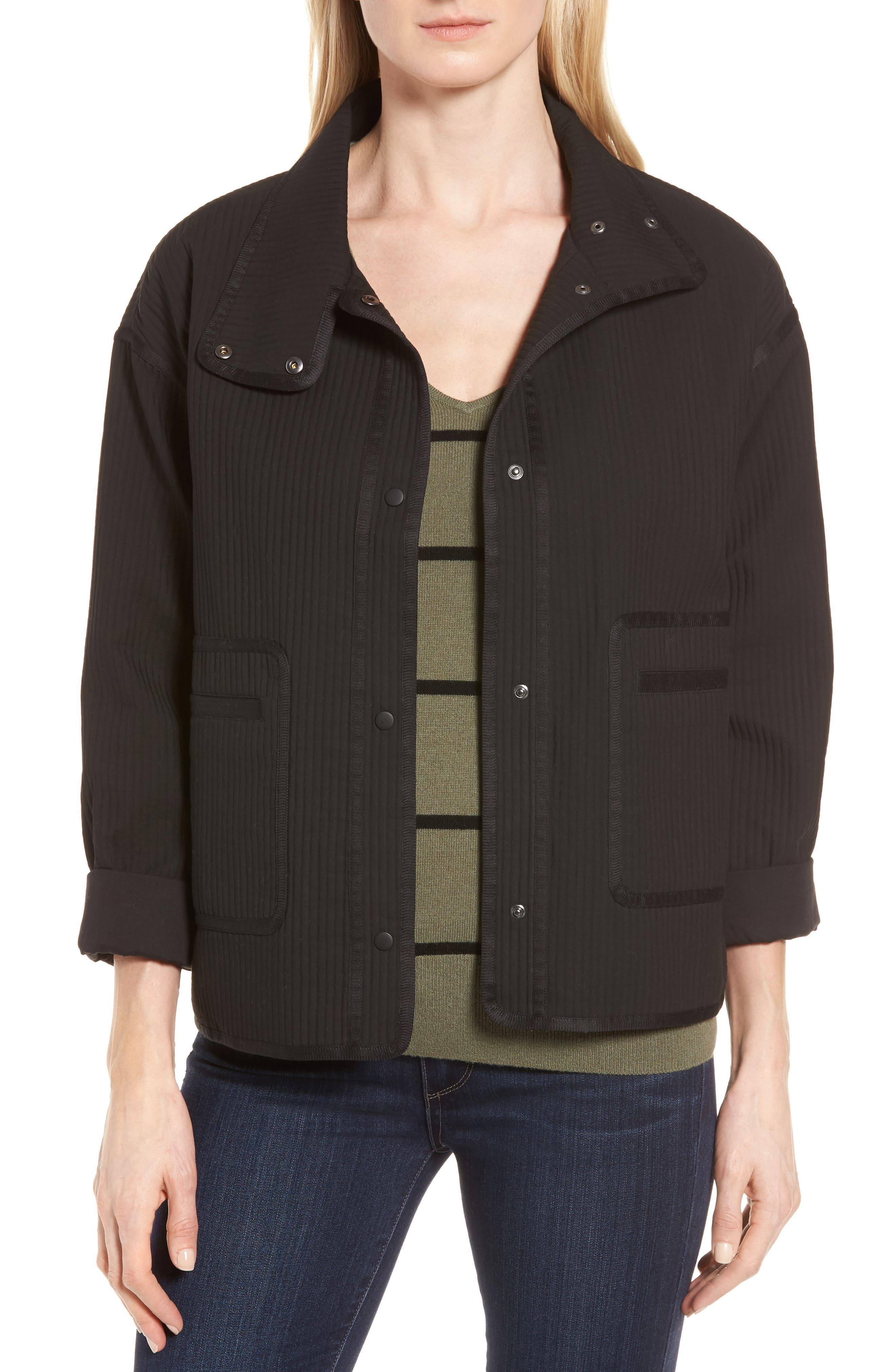 Alternate Image 1 Selected - Nordstrom Signature Ottoman Knit Jacket