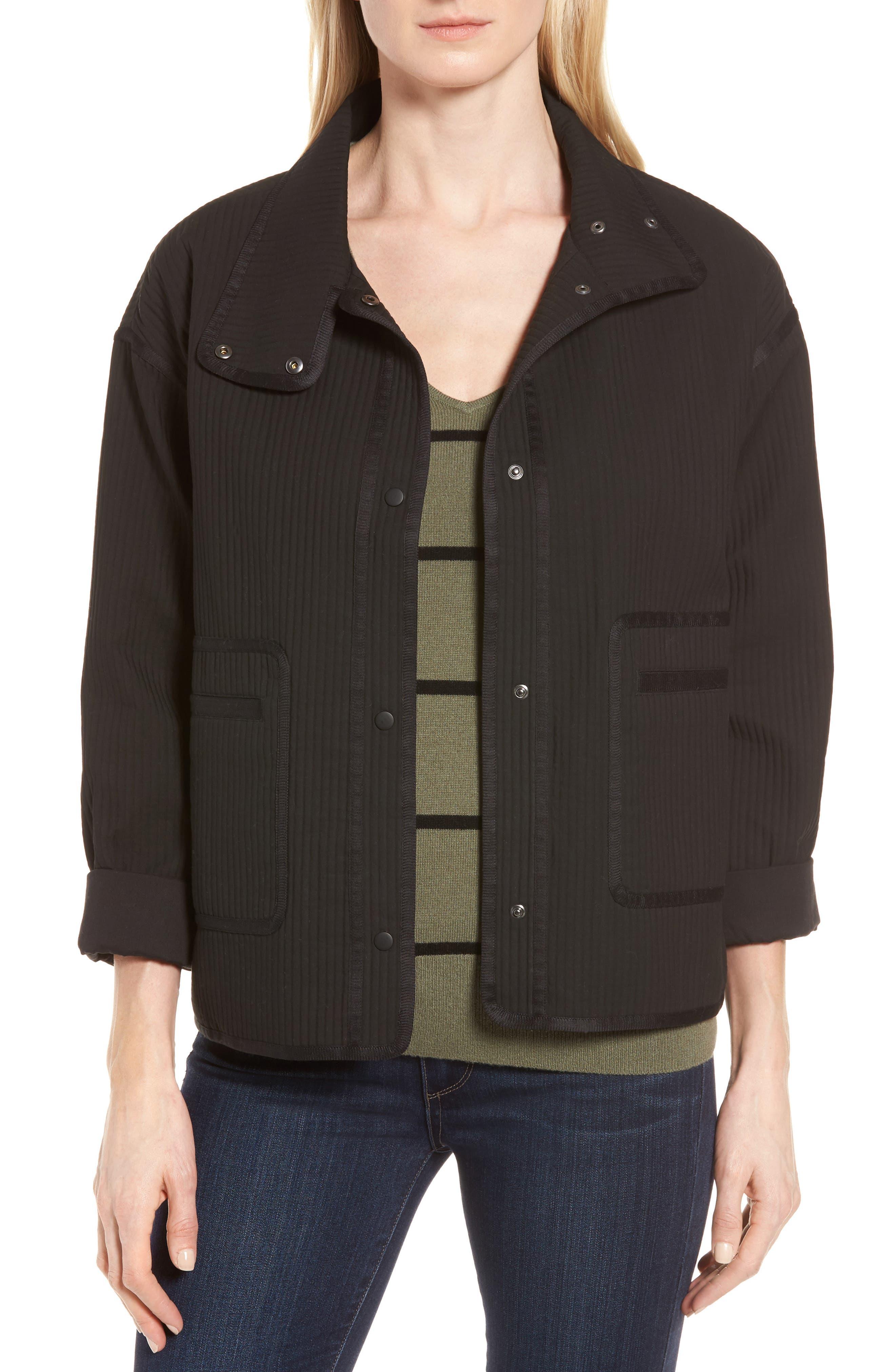 Ottoman Knit Jacket,                         Main,                         color, Black