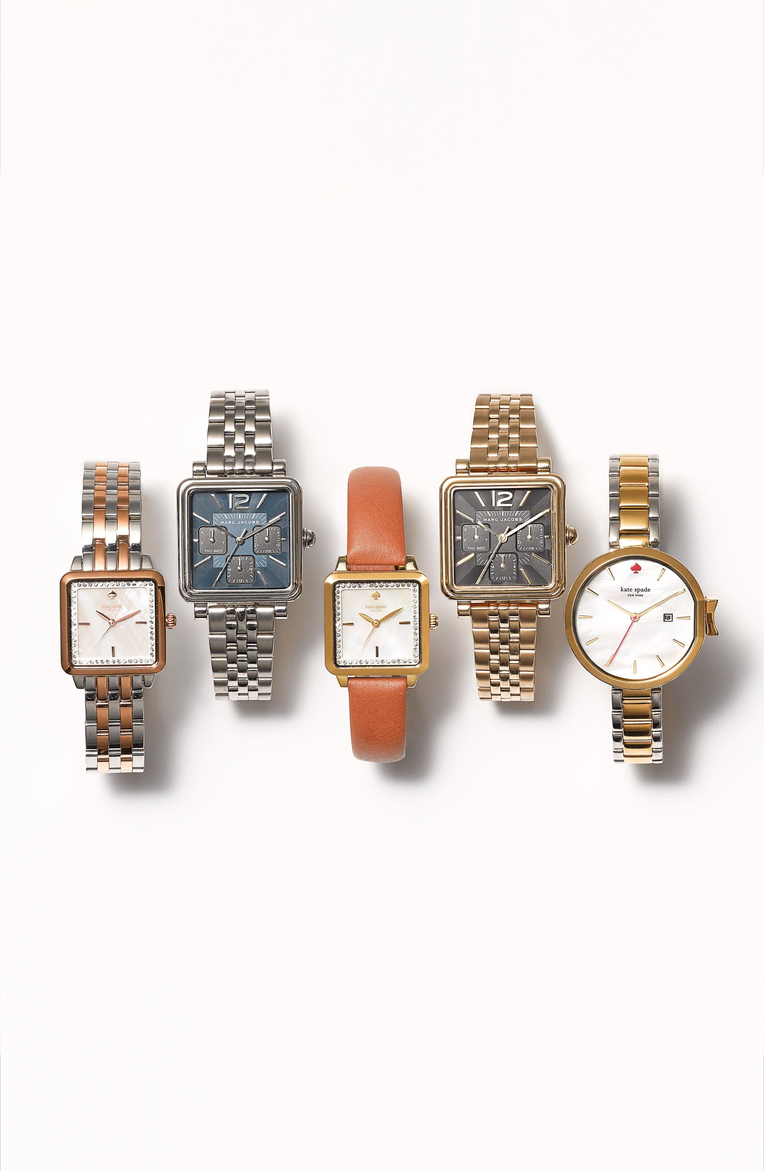 Alternate Image 4  - MARC JACOBS Square Vic Bracelet Watch, 30mm