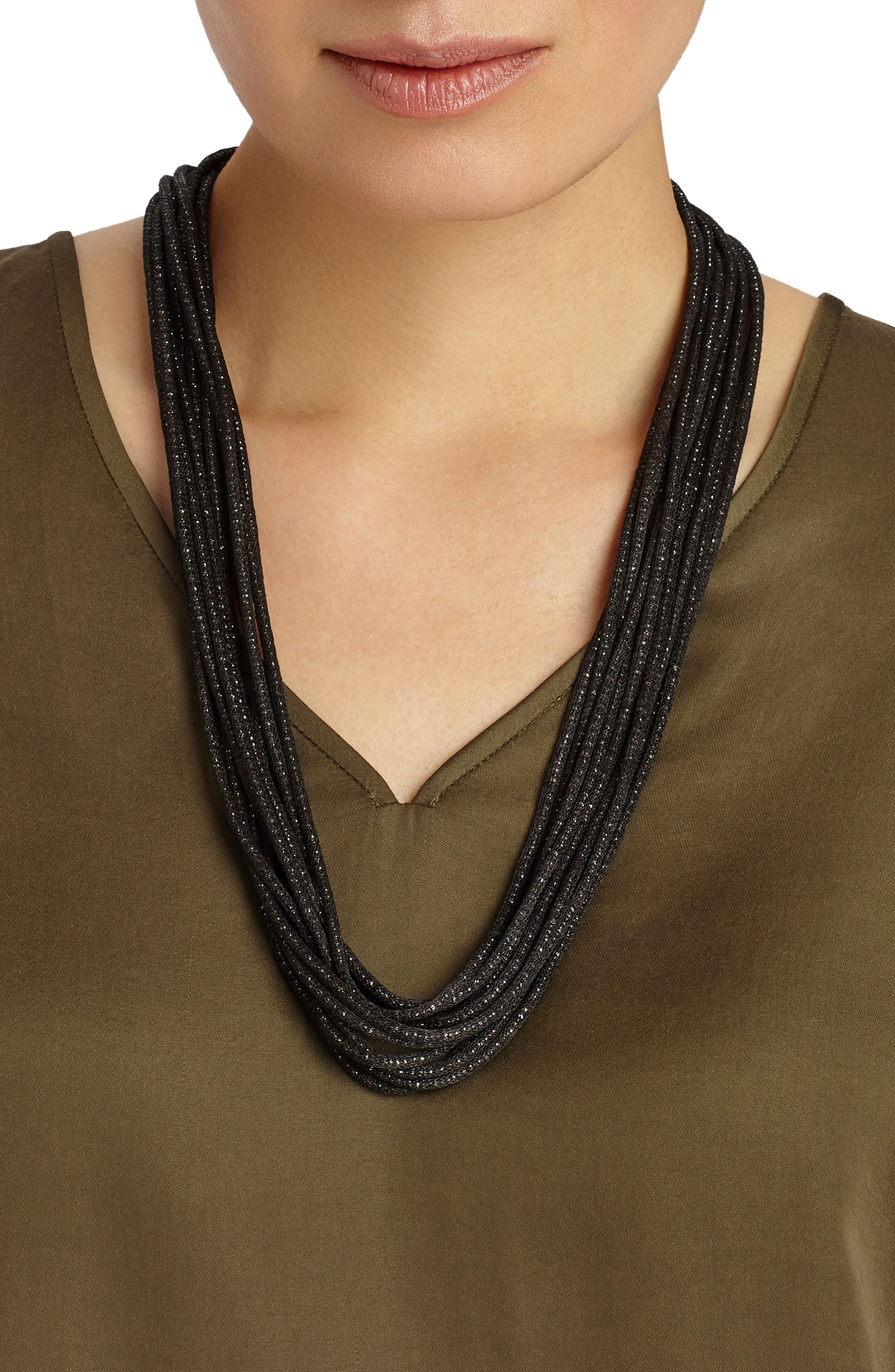 Alternate Image 4  - Lafayette 148 New York Mesh Chain Multistrand Necklace