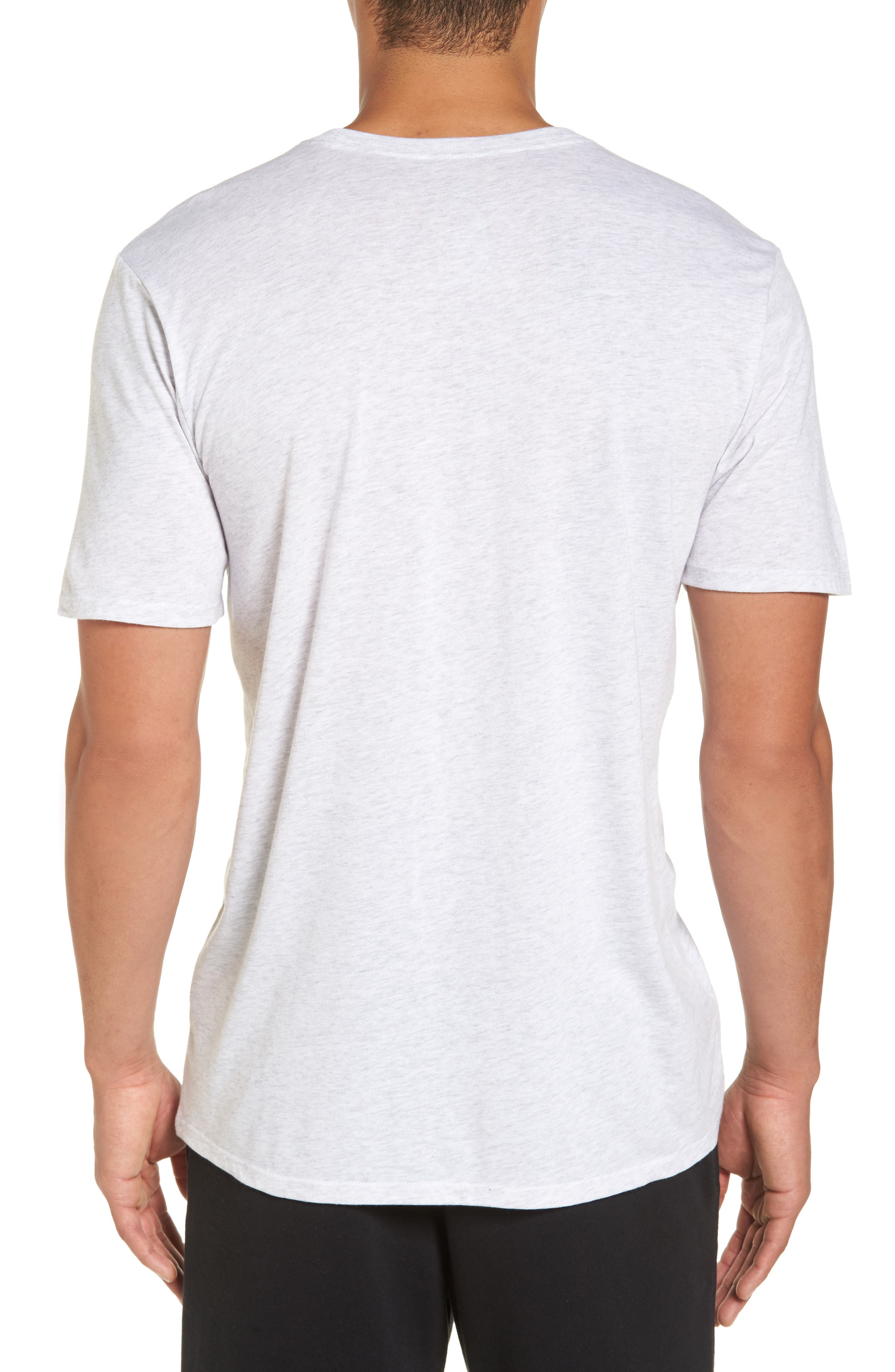 NSW TB Legacy T-Shirt,                             Alternate thumbnail 2, color,                             Birch Heather/ Heather/ Sail