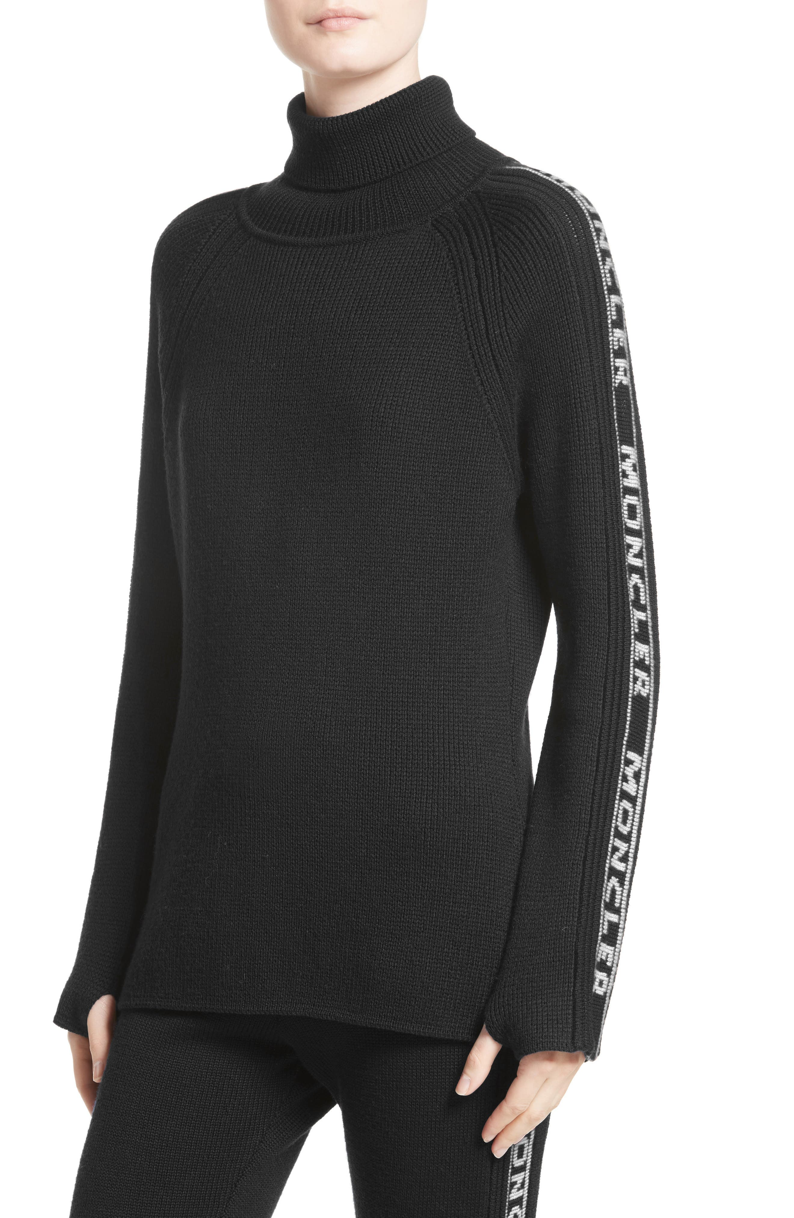 Ciclista Tricot Wool Sweater,                         Main,                         color, Black With White